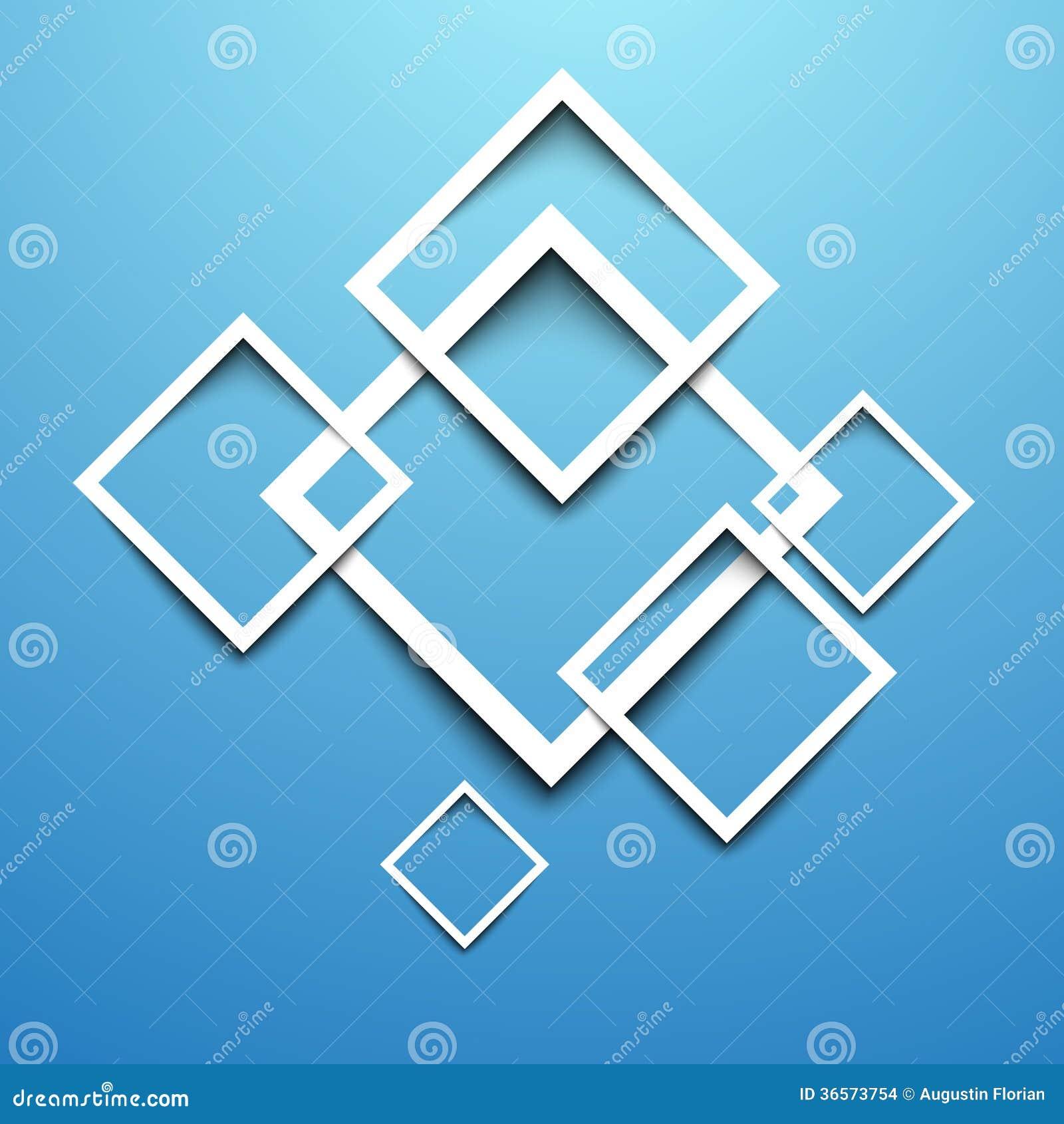 3d rectangle design template stock vector illustration of