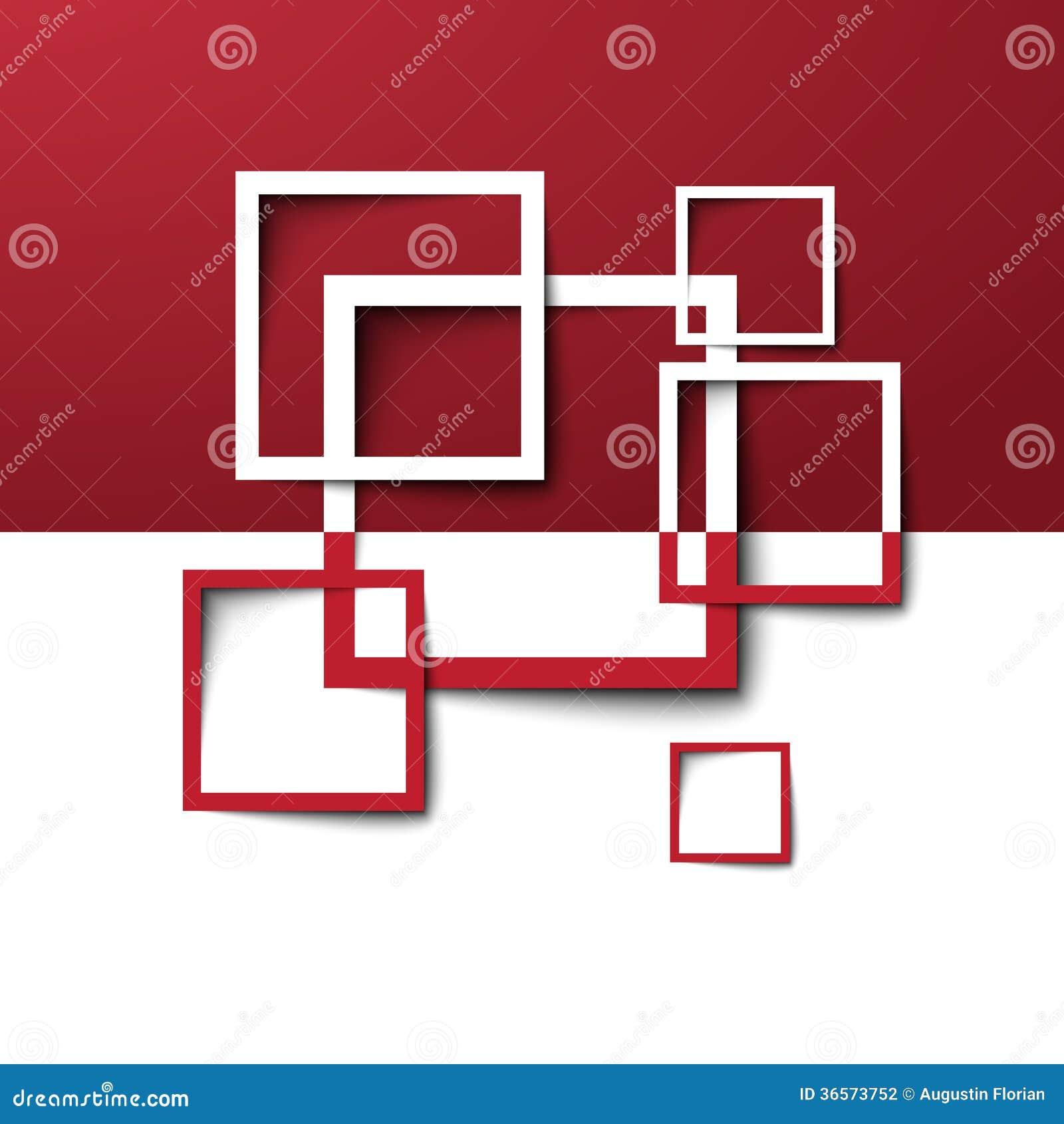 3d Rectangle Design Template Stock Photography