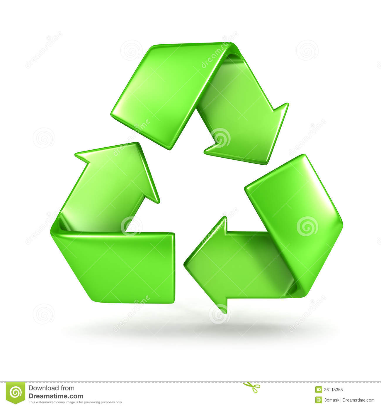 3d recycle sign royalty free stock photo image 36115355