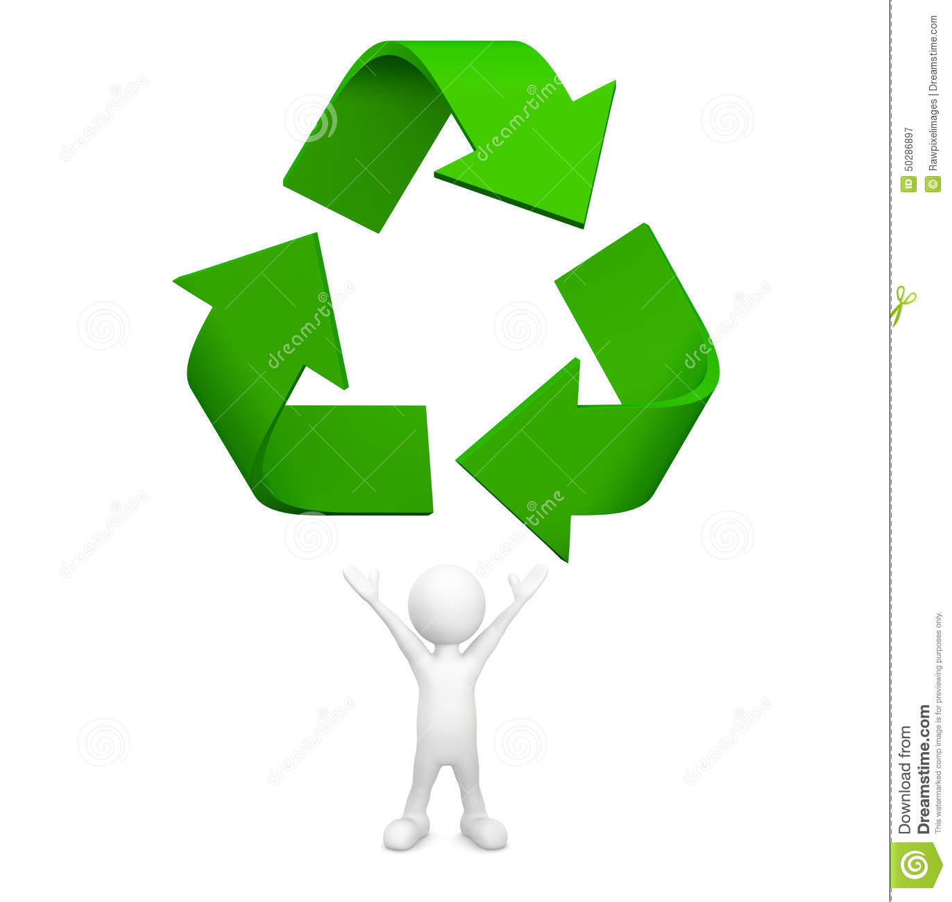 Reuse, Reduce, Recycle Vector Illustration | CartoonDealer ...