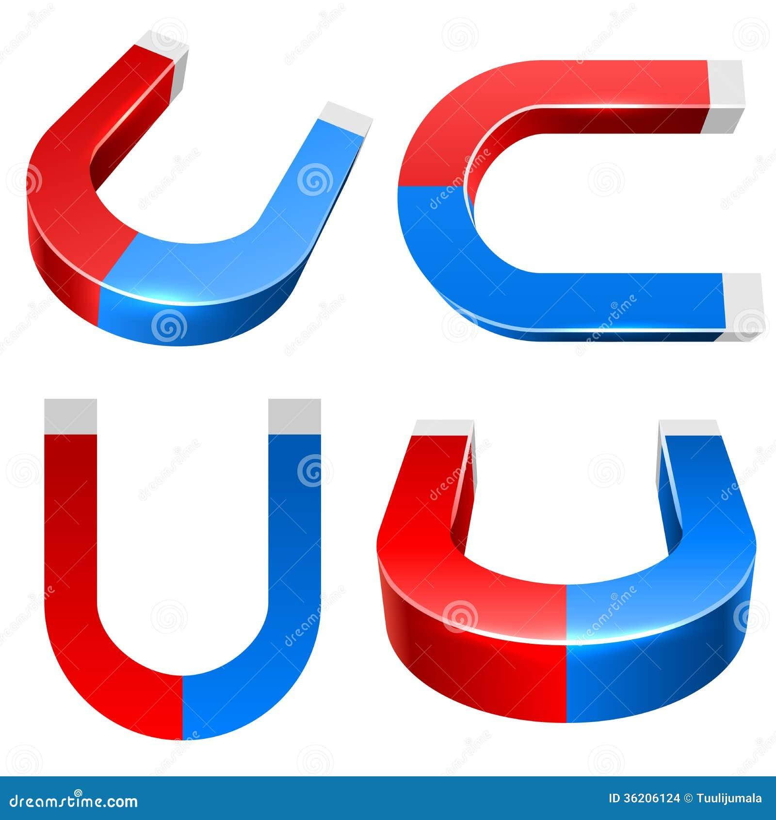 red magnet icon cartoon vector cartoondealer com 79819421 horseshoe magnet clipart Clip Art Round Magnet Disc