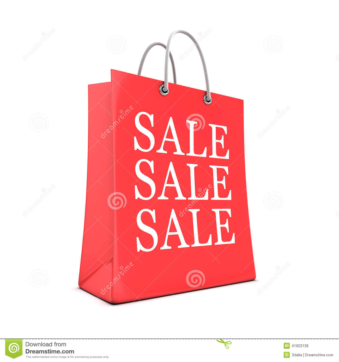 b5530b4f0b4 3d Red Shopping Bag From The Sales Stock Illustration - Illustration ...