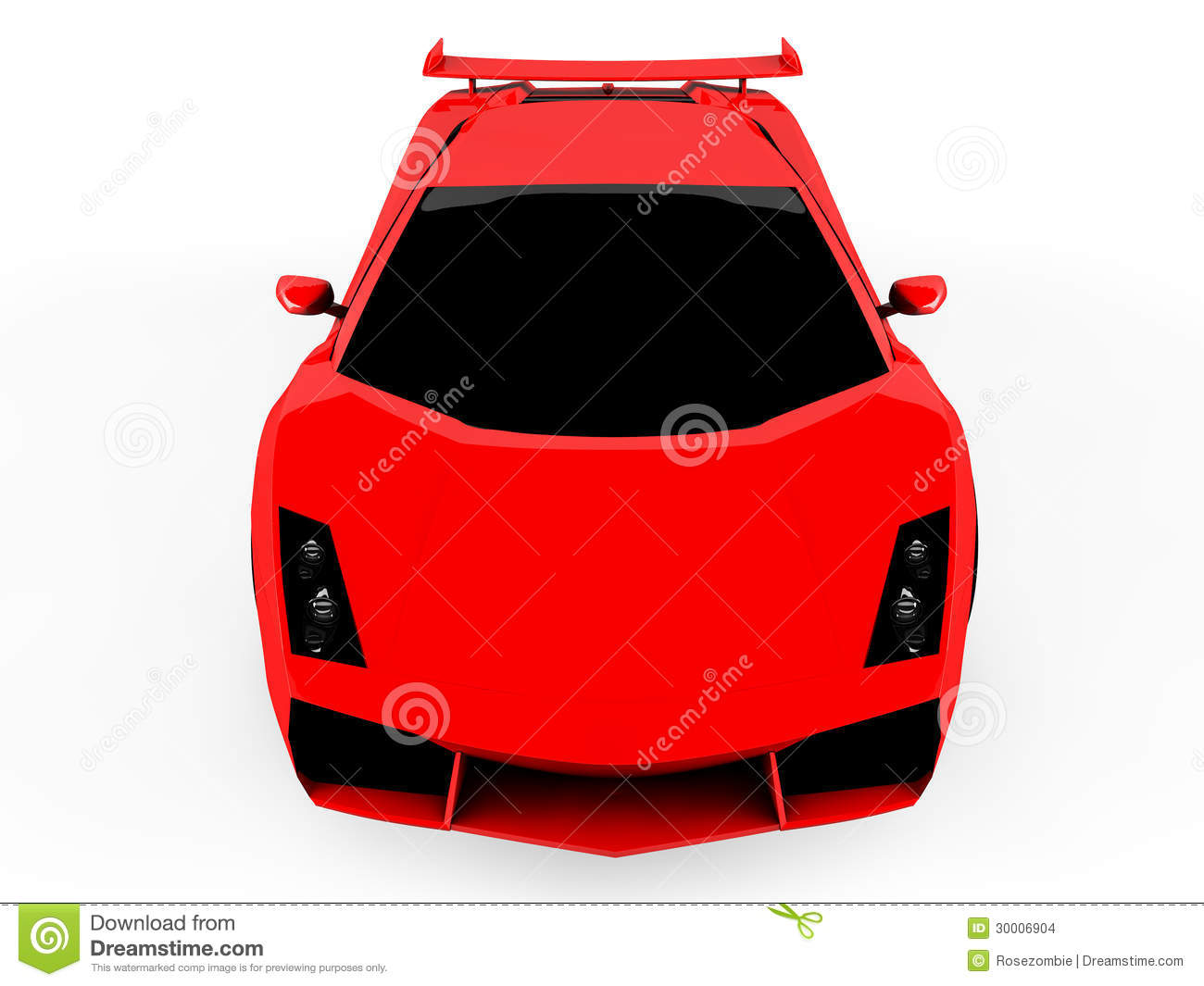 Red Sports Car On White Background Stock Images - Image ...