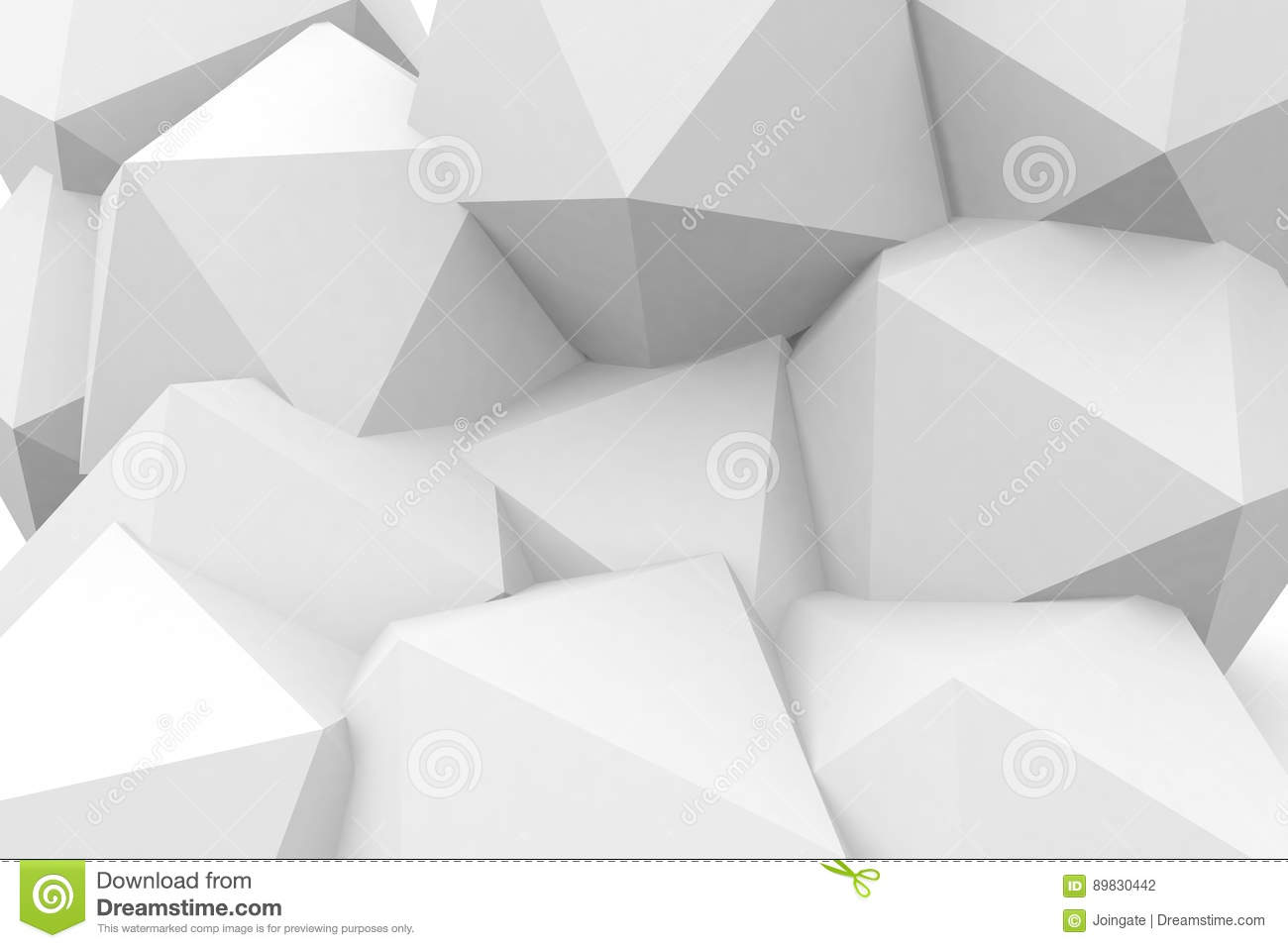 3d Rednered Geometric Shapes In White Abckground Stock