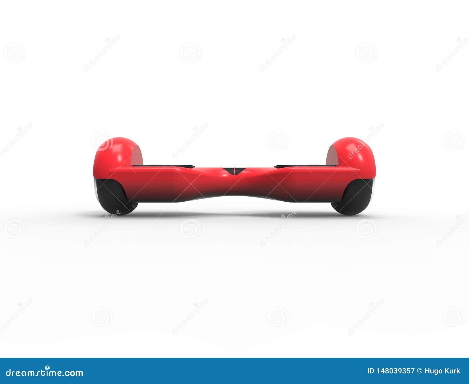 3D rendant l illustration 3D d un hoverboard rouge d isolement