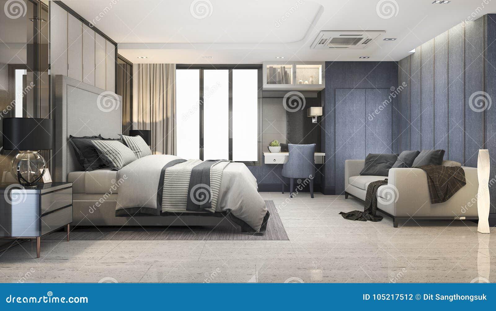3d Rendant Le Mobilier Pour Chambre à Coucher De Luxe ...