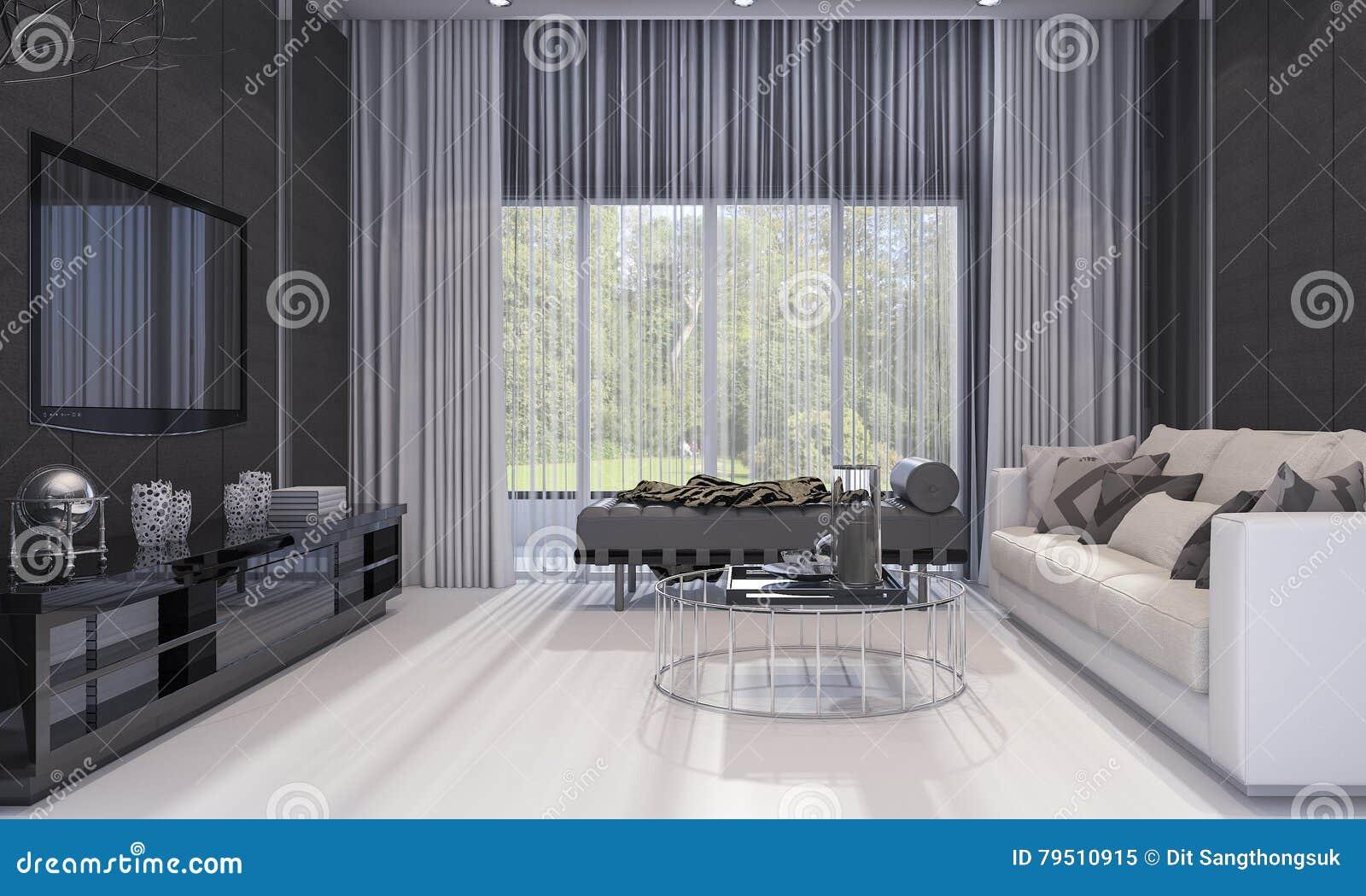 3d Rendant Le Salon De Luxe Gentil De Conception Moderne Avec Le  # Salon De Luxe Avec Tv