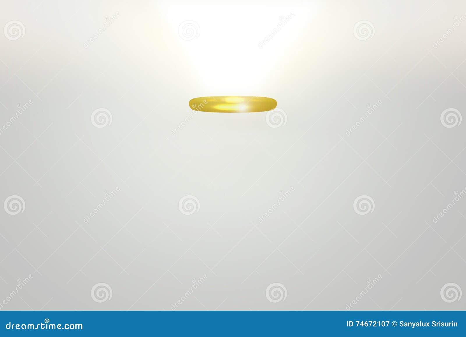 3D Rendeinr Of Golden Angel Halo Illustration 74672107