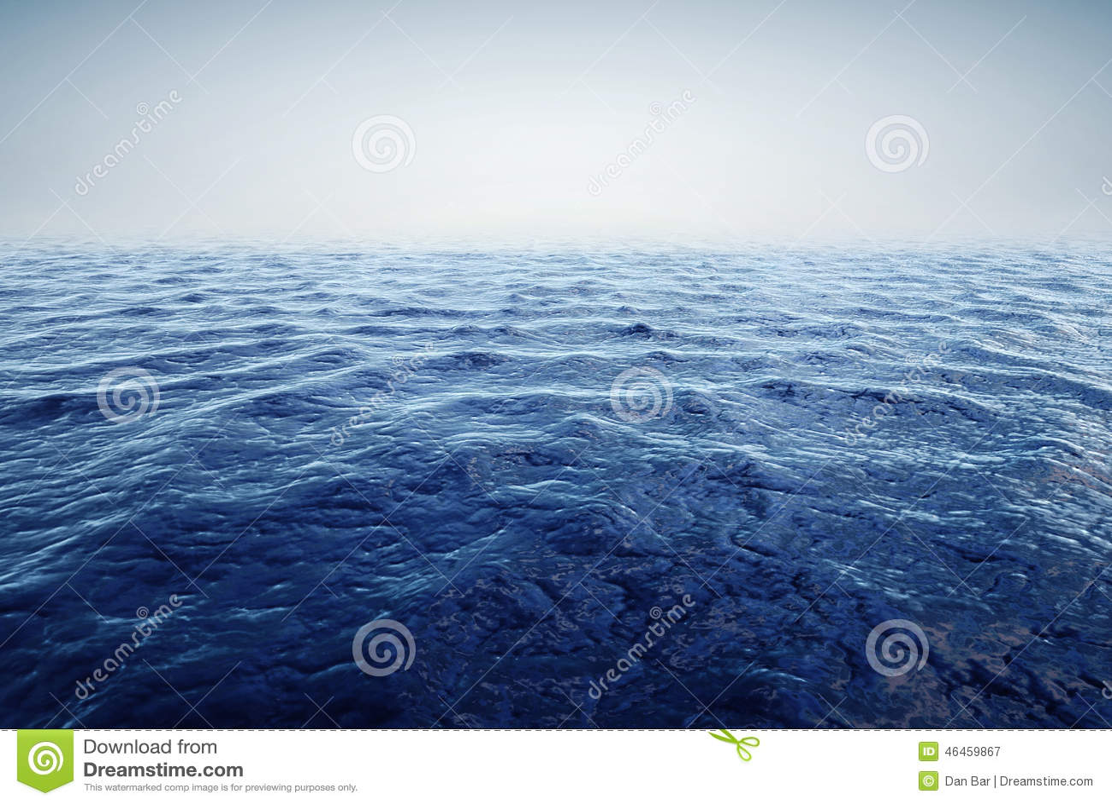 3d rendent de l océan et du beau ciel bleu