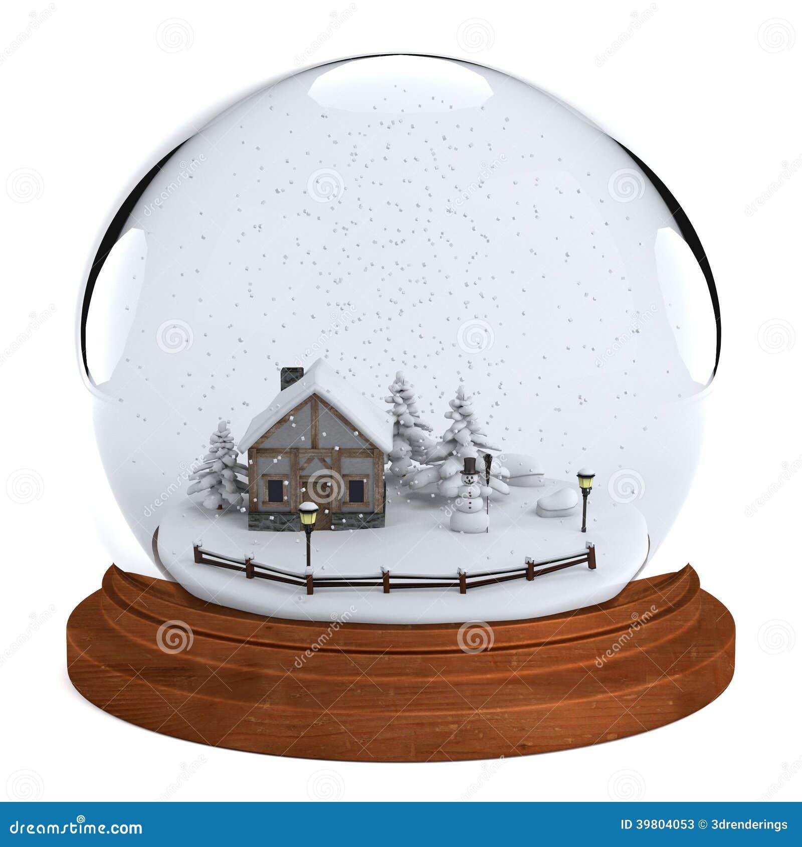 3d rendent de la boule de neige illustration stock image. Black Bedroom Furniture Sets. Home Design Ideas