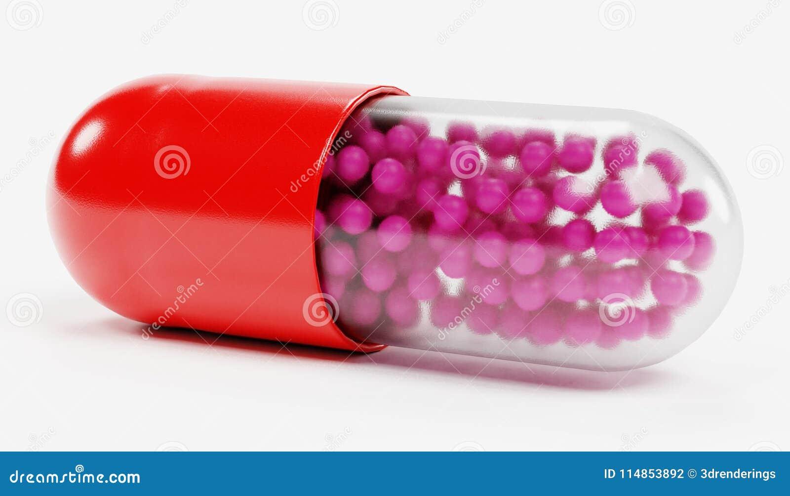 3D rendent de la médecine de pilule