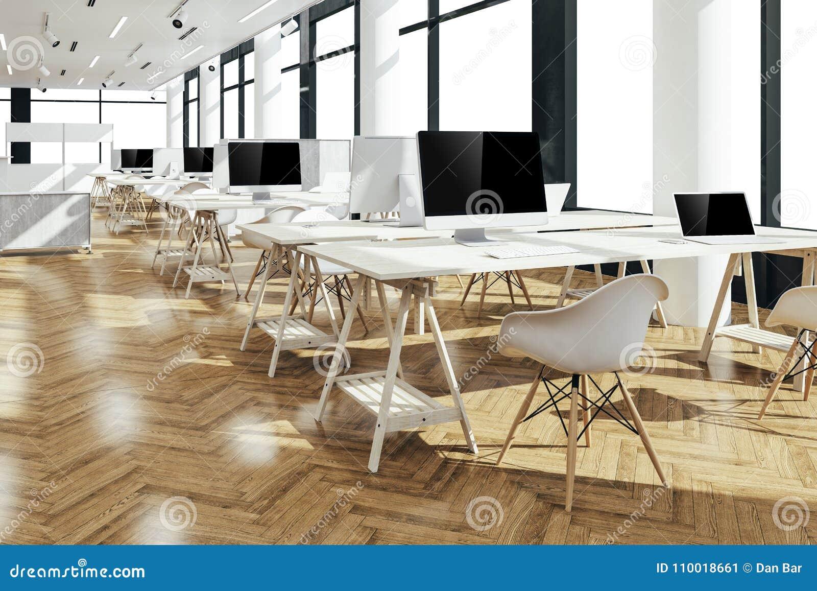 3d rendent du bel intérieur moderne de bureau