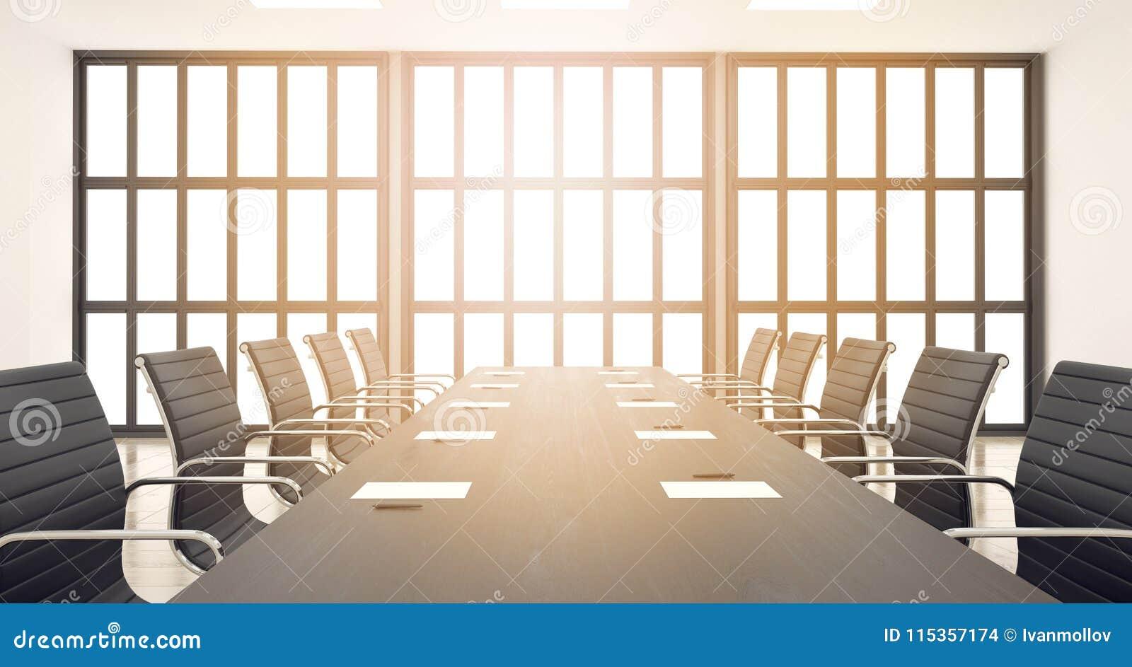 Meerting Des 3d Chaises De Table Du Avec Bureau En Rendent La Et mNnOv80w