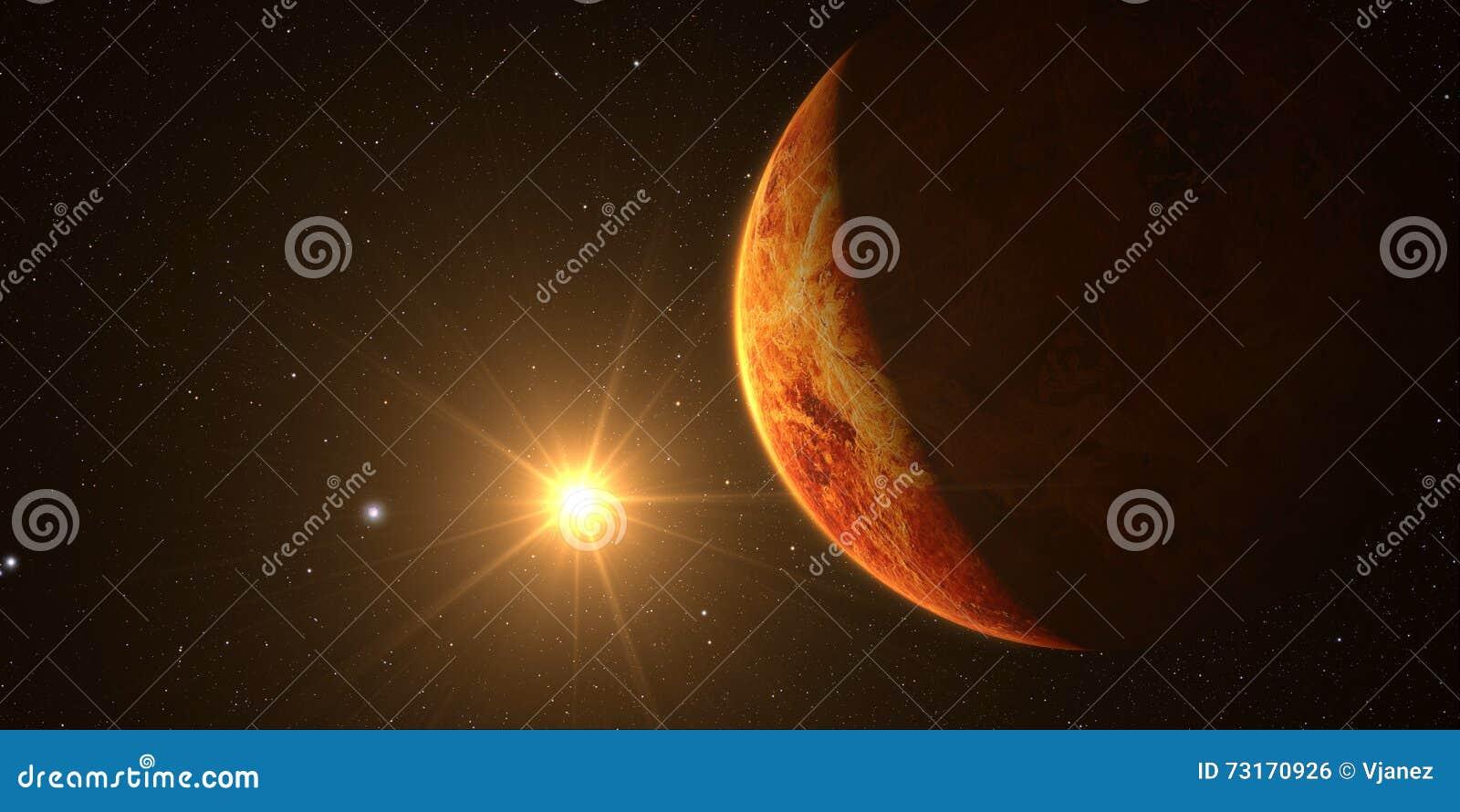 3D rendent la planète Vénus