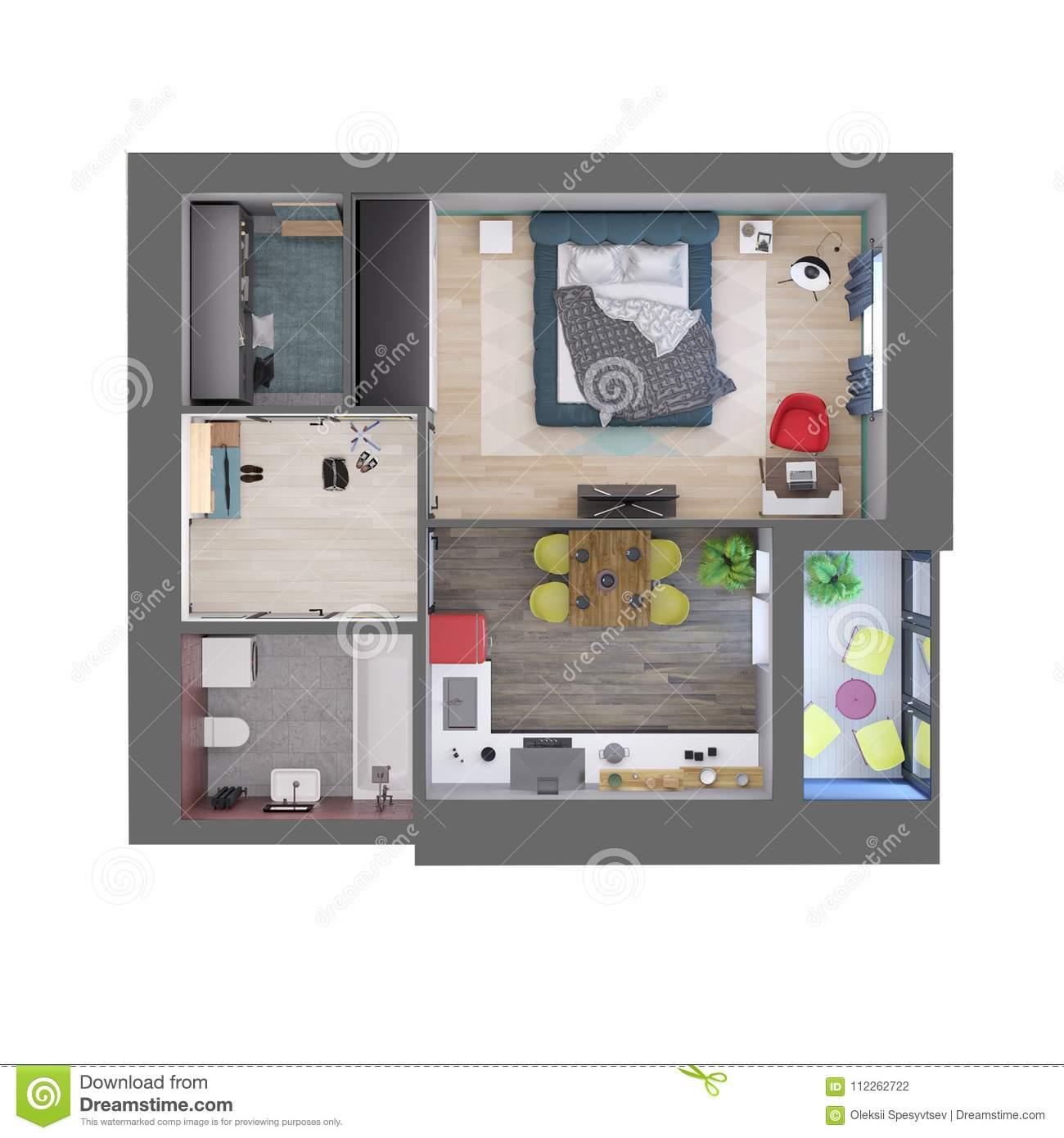 plan appartement moderne