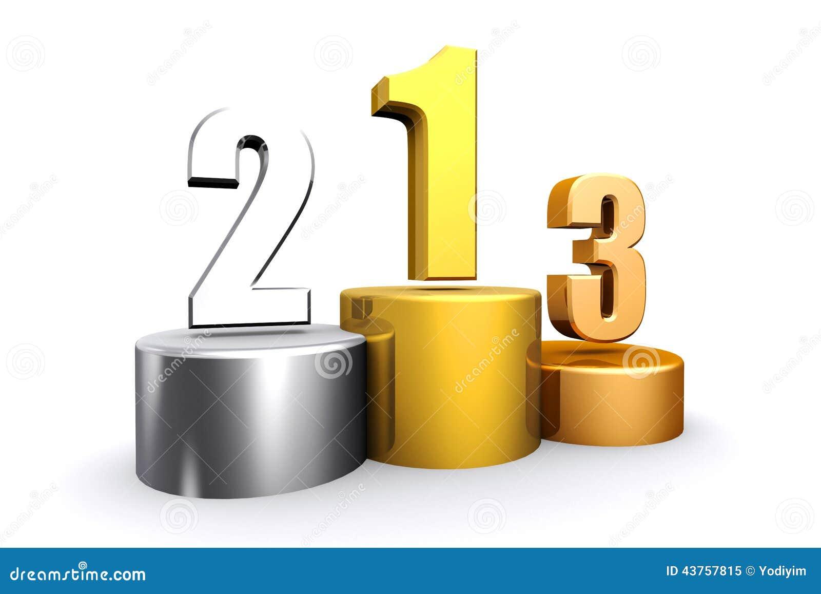 3d rendent le podium vide de gagnants illustration stock - Dessin podium ...