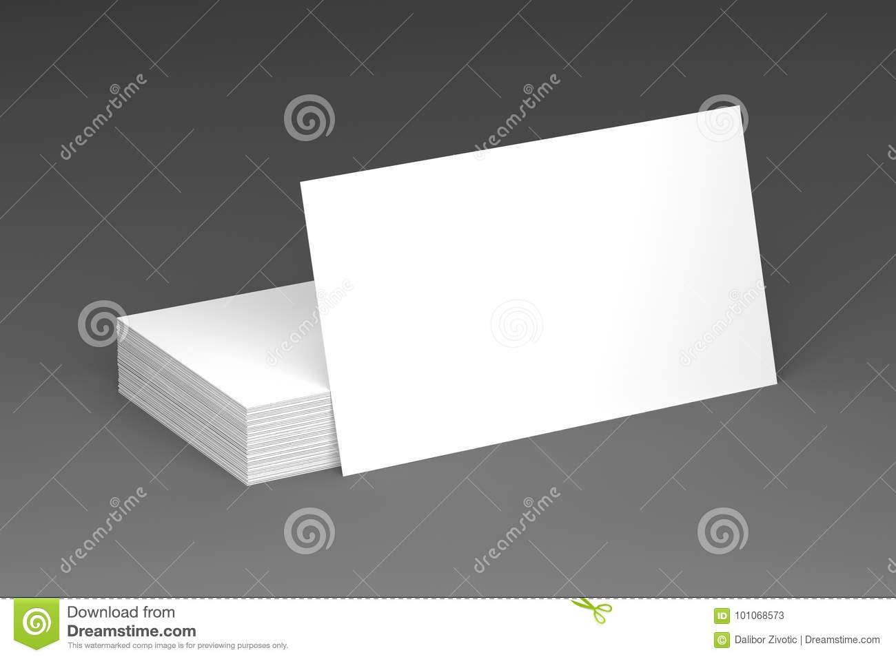 Business cards blank mockup template 3d illustration stock download business cards blank mockup template 3d illustration stock illustration illustration of card flashek Images