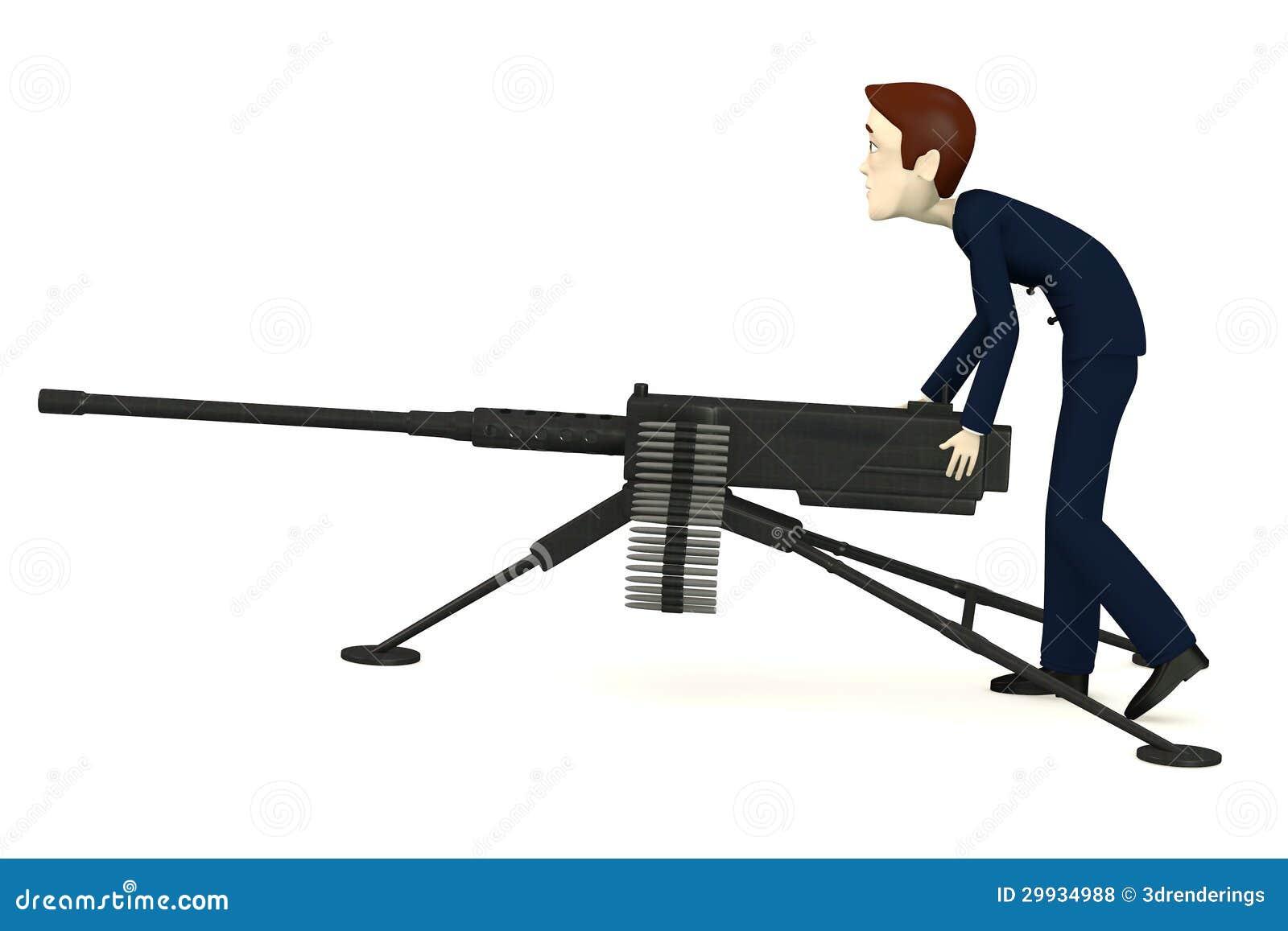 how to draw a cartoon machine gun
