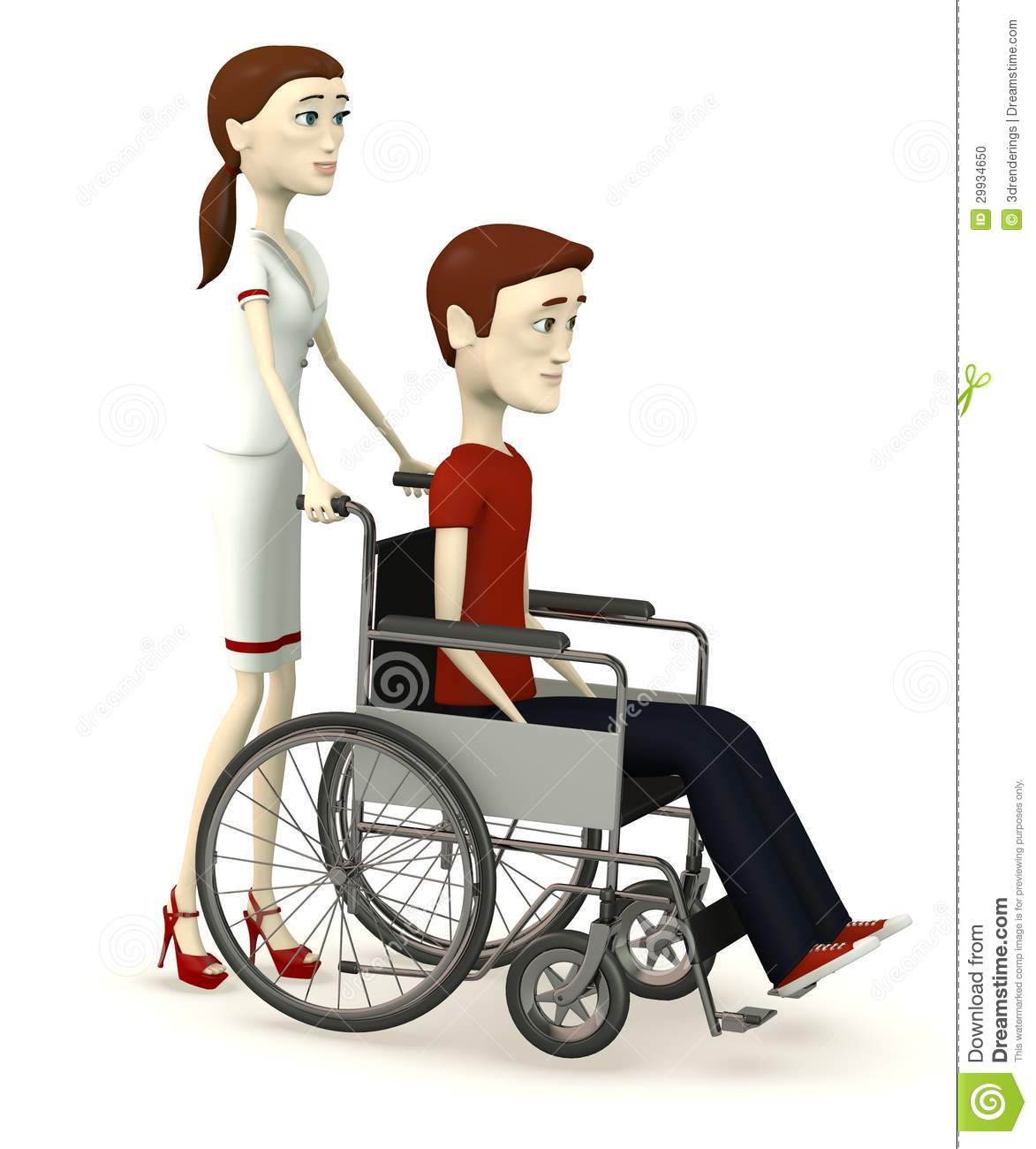 Businessman On Wheelchair With Nurse Stock Photo - Image: 29934650