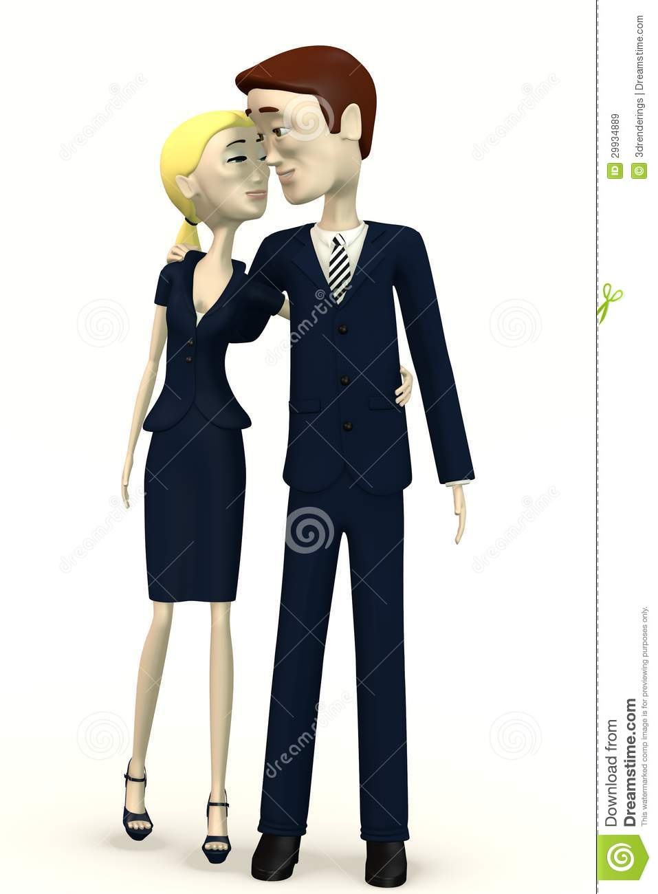Cartoon Characters Couples : Cartoon characters happy couple royalty free stock images
