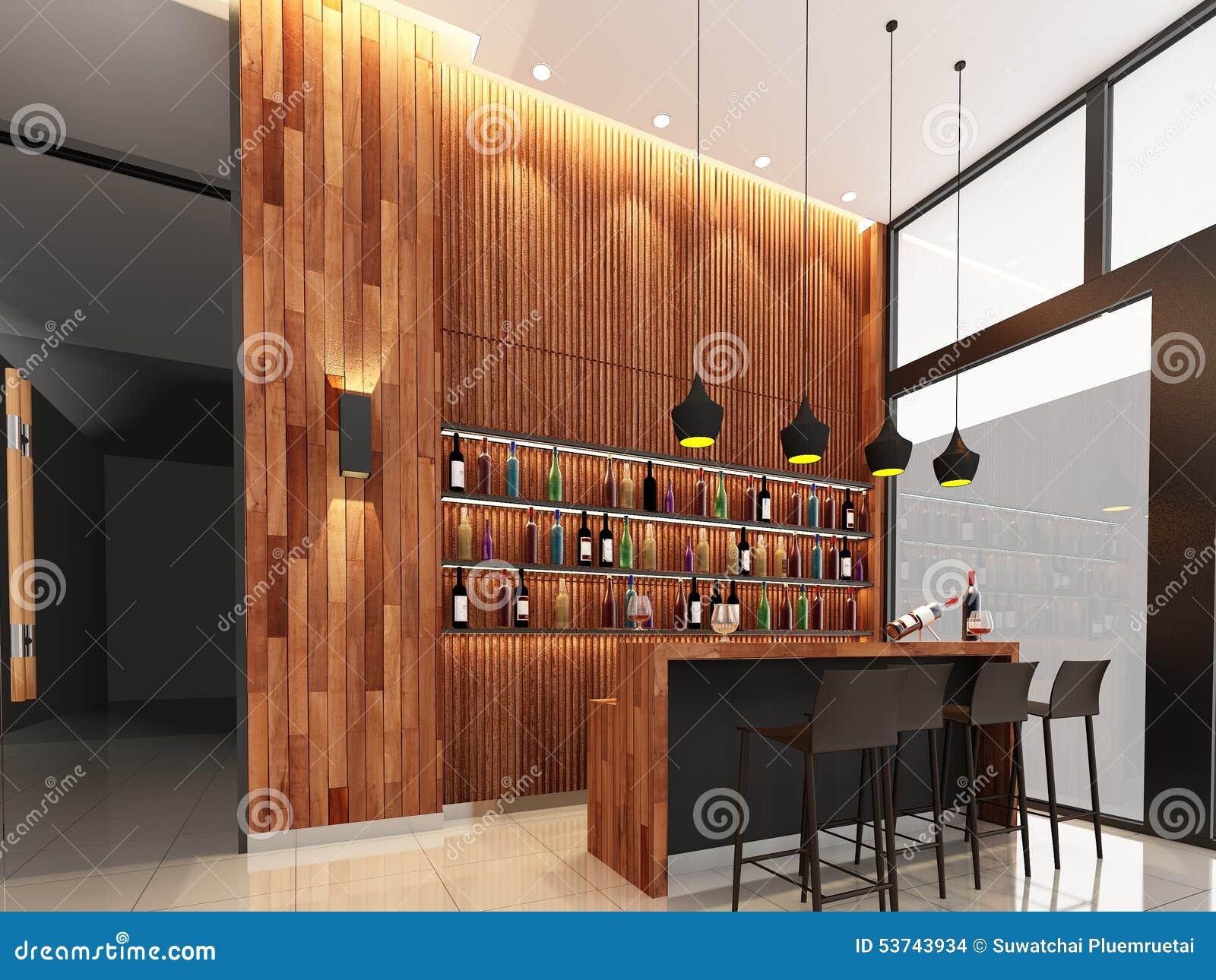 3d Render Of Counter Bar