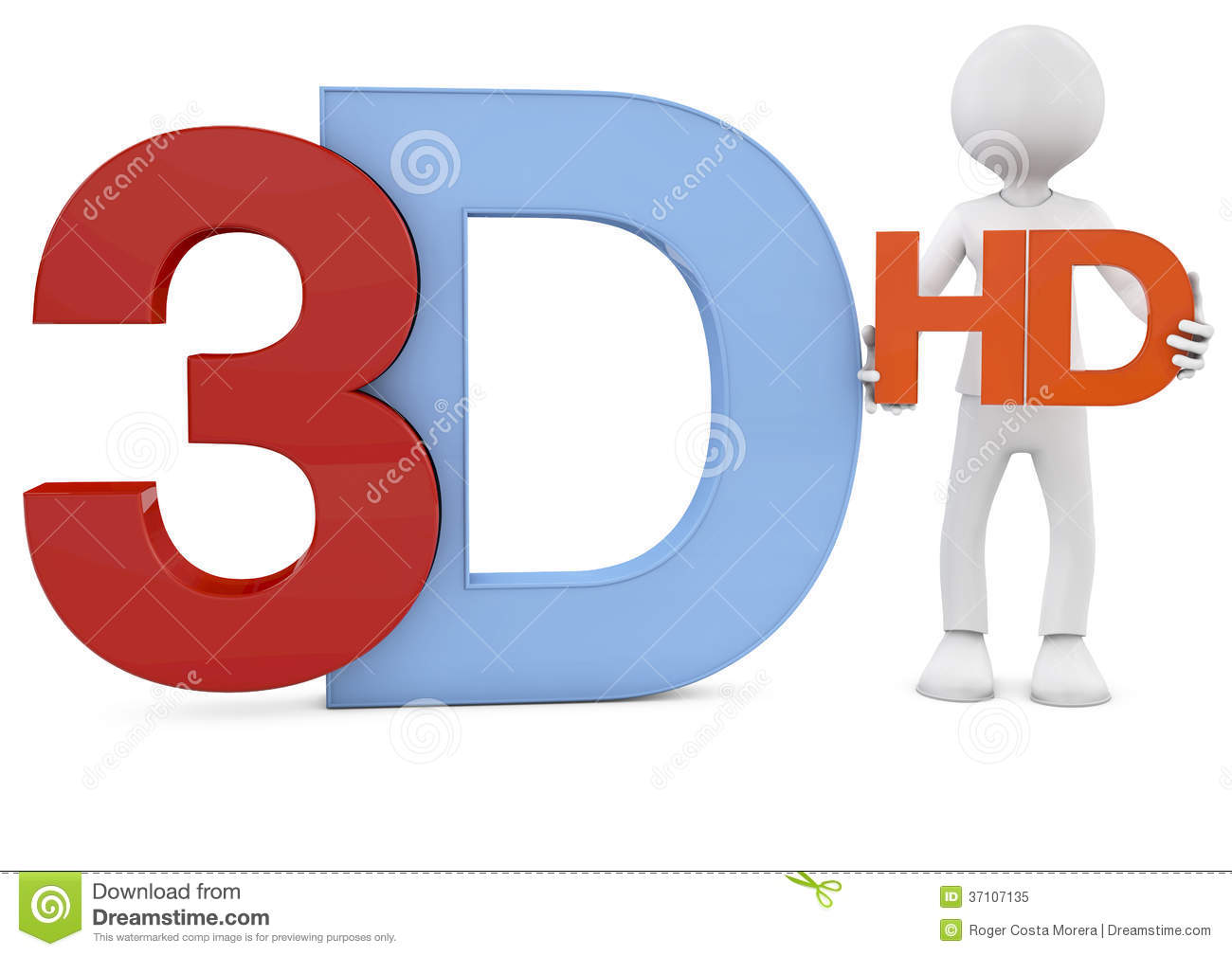 3d Render Of The 3d And Hd Text Royalty Free Stock Photo ...