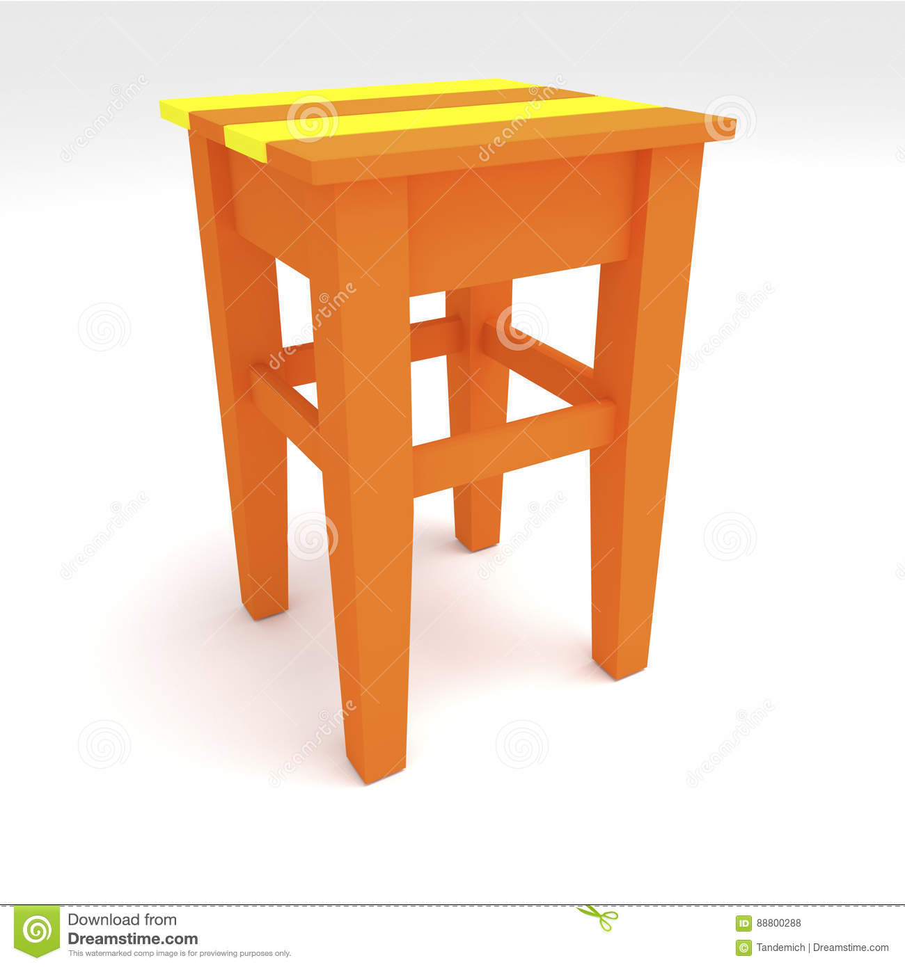 Superb 3D Render 3D Illustration The Evolution Of A Wooden Stool Bralicious Painted Fabric Chair Ideas Braliciousco
