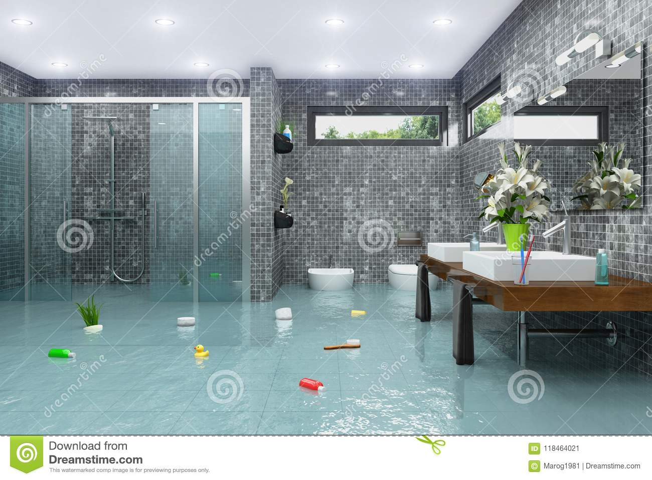 Broken Clogged Toilet Overflowing Out Of Order Stock Vector - Illustration  of bathroom, symbol: 108340400