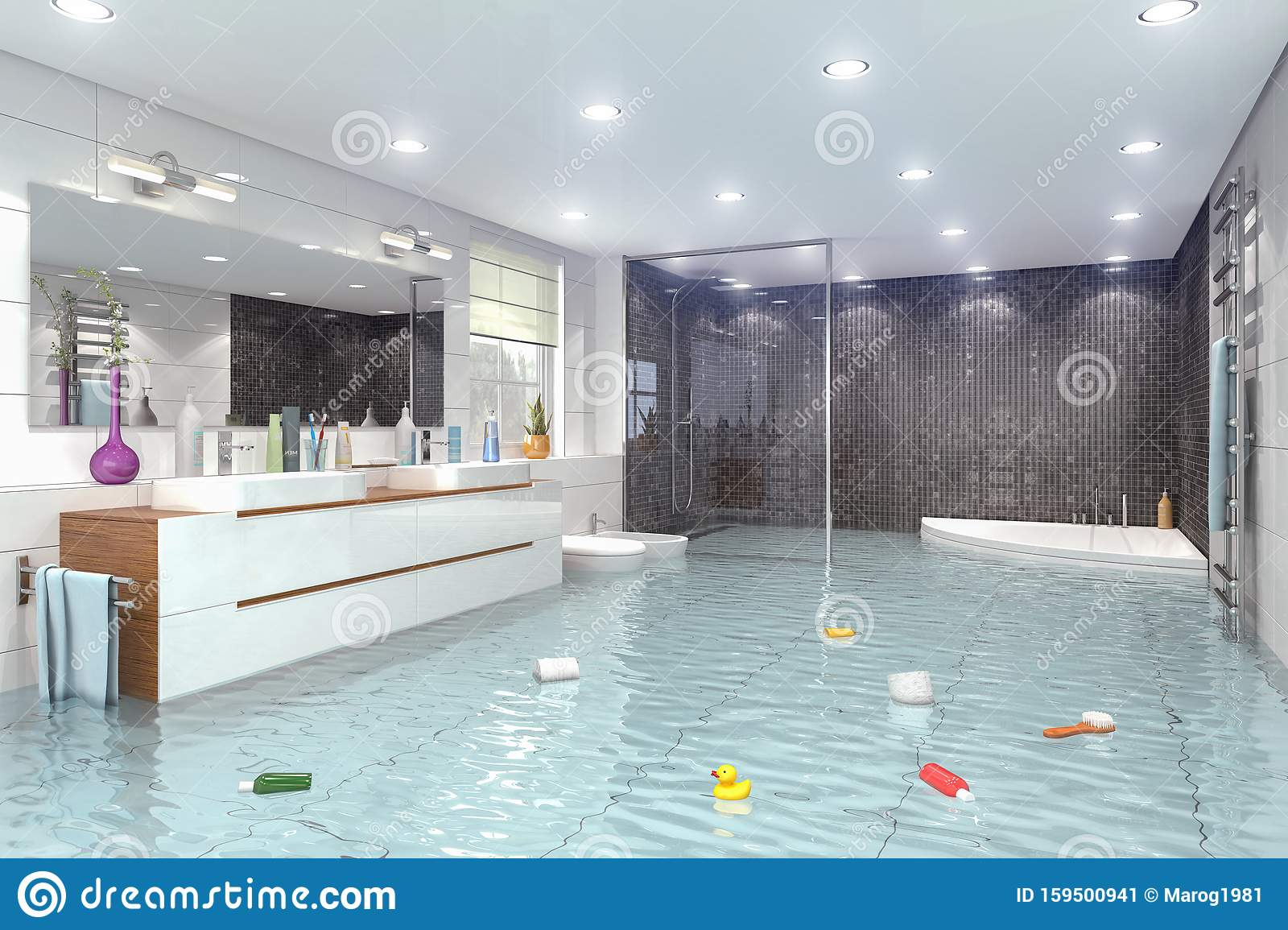 Flood Clipart Flooded Bathroom - Close Clipart - Png Download - Full Size  Clipart (#218835) - PinClipart