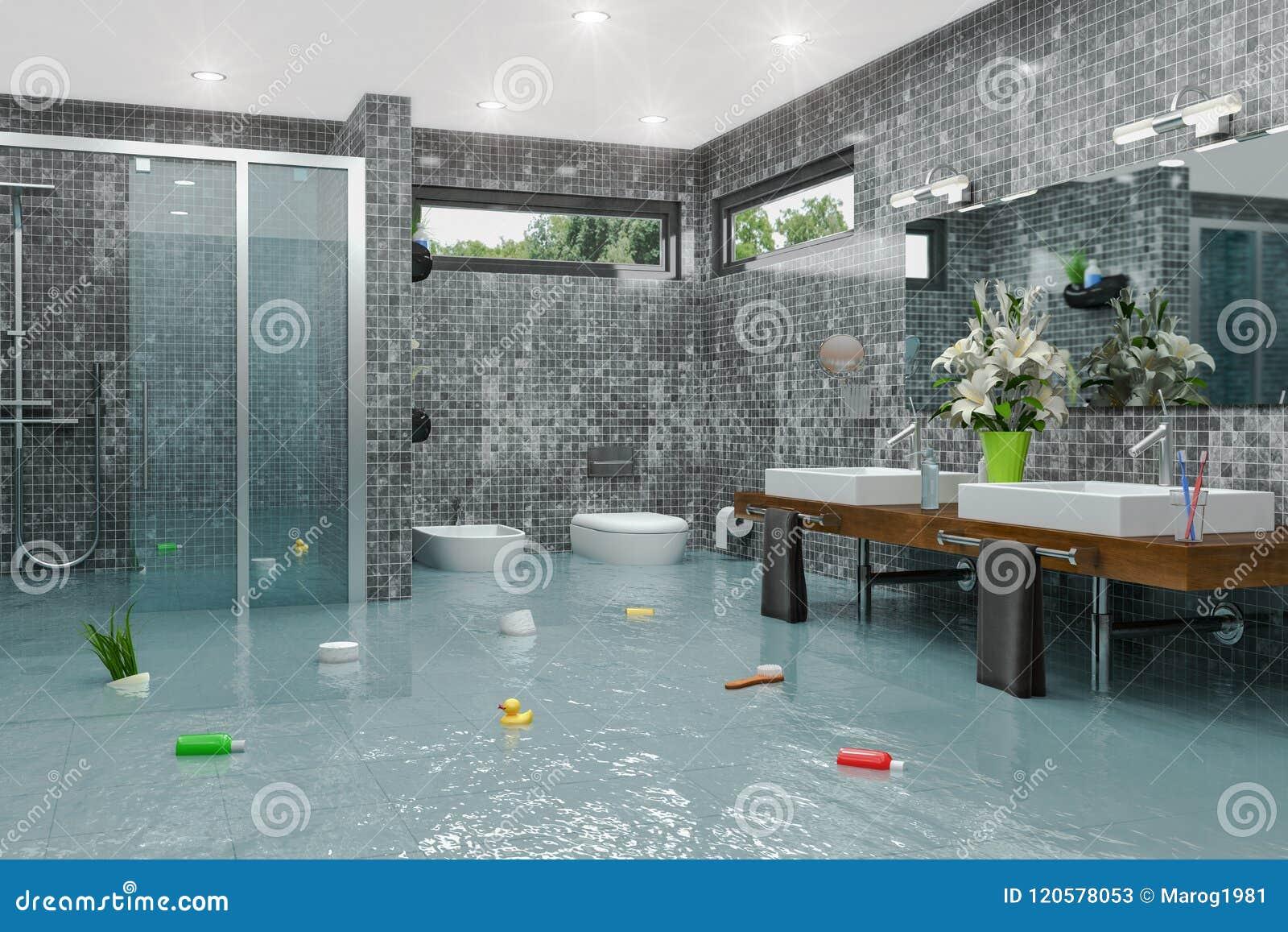 Toilet Flood Images, Stock Photos & Vectors | Shutterstock