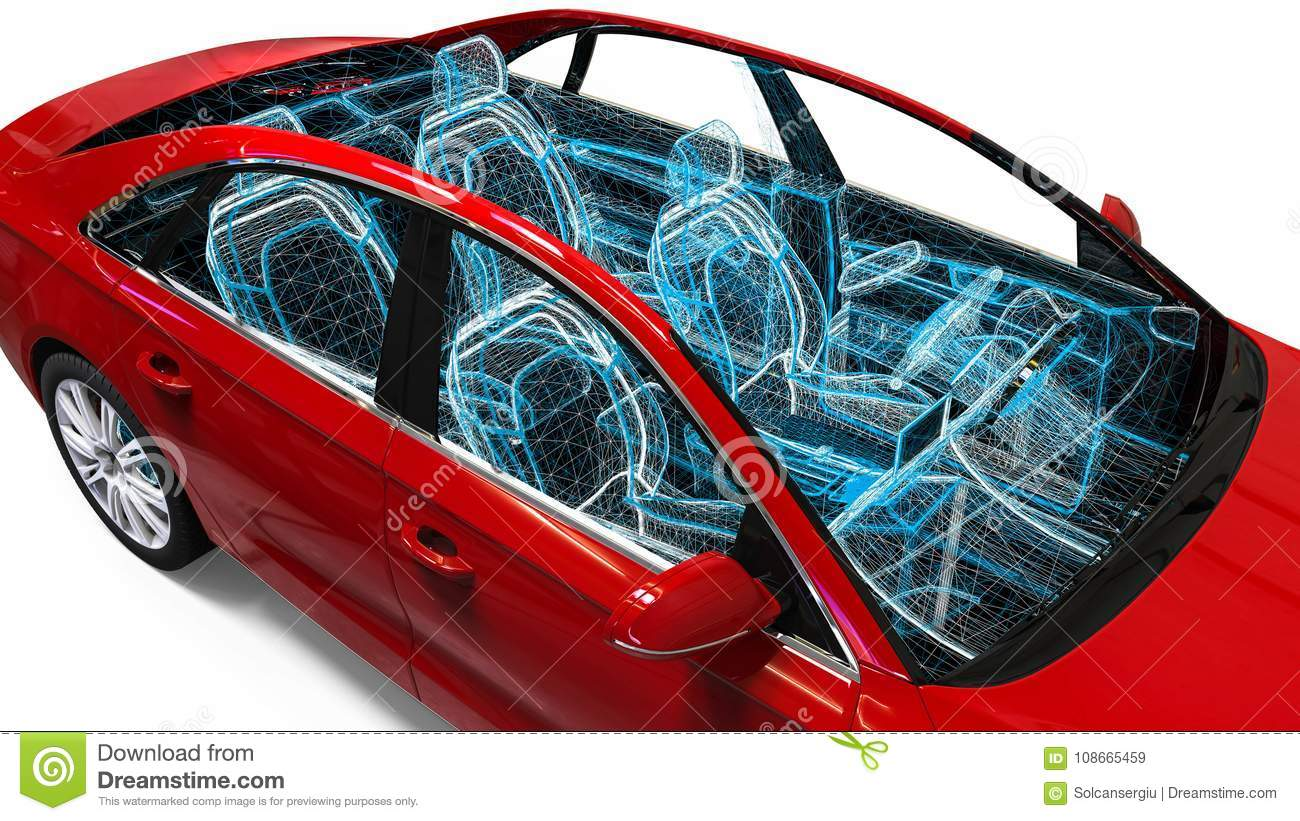 Car Interior Development Process Stock Illustration Illustration