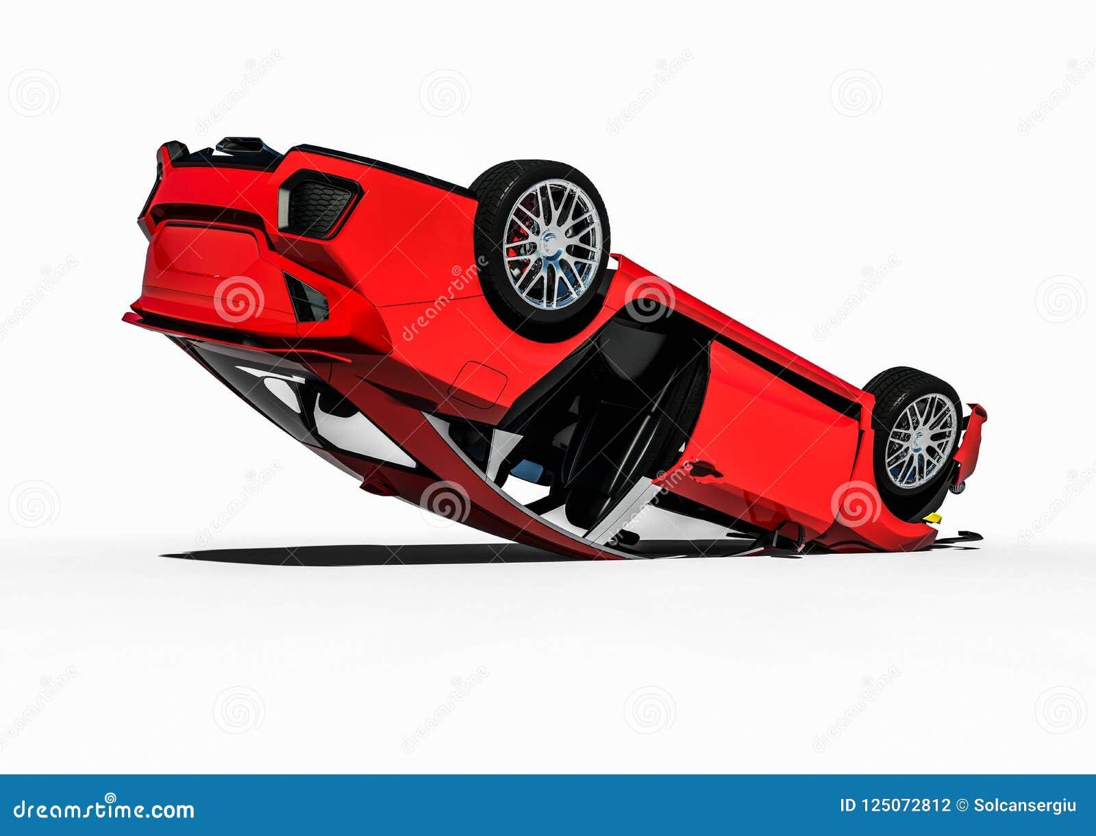 Car Wreck Stock Illustration Illustration Of Insurance 125072812