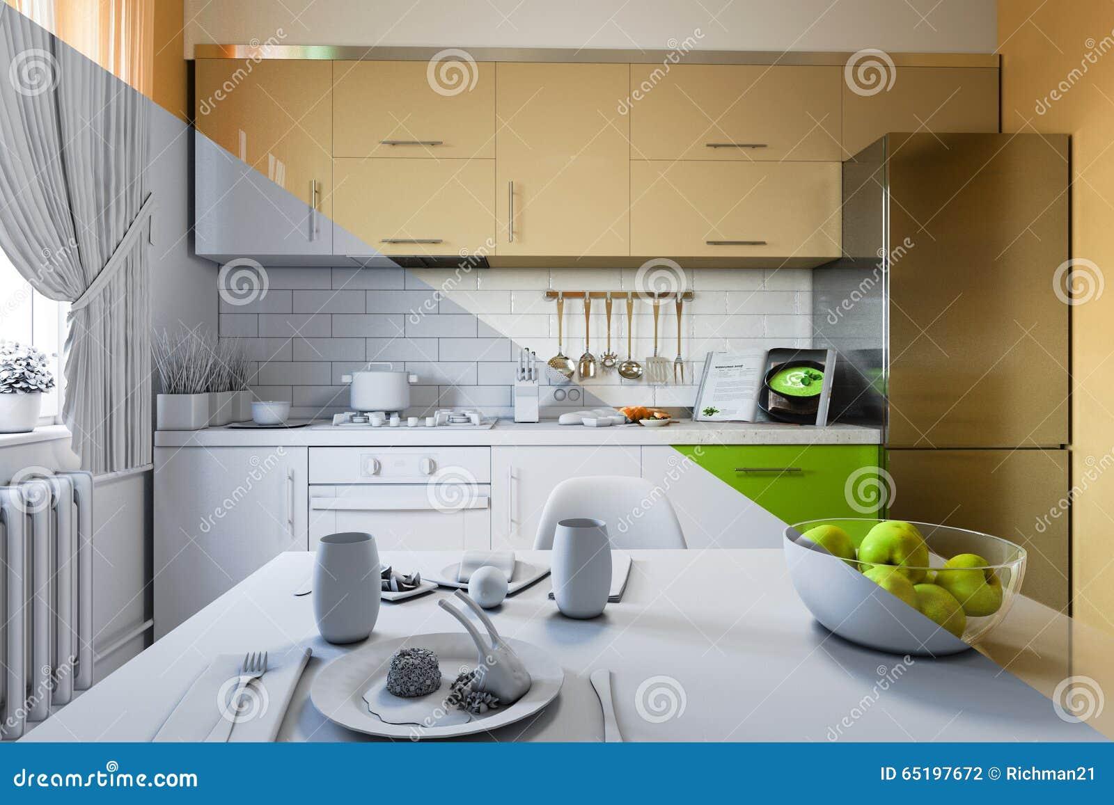 kitchen design free download 3d 3d render of kitchen design in a
