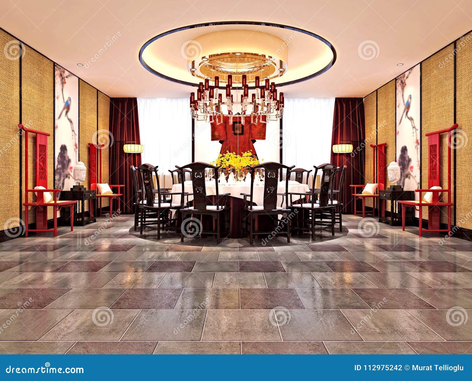 3d Render Of Luxury Dining Room