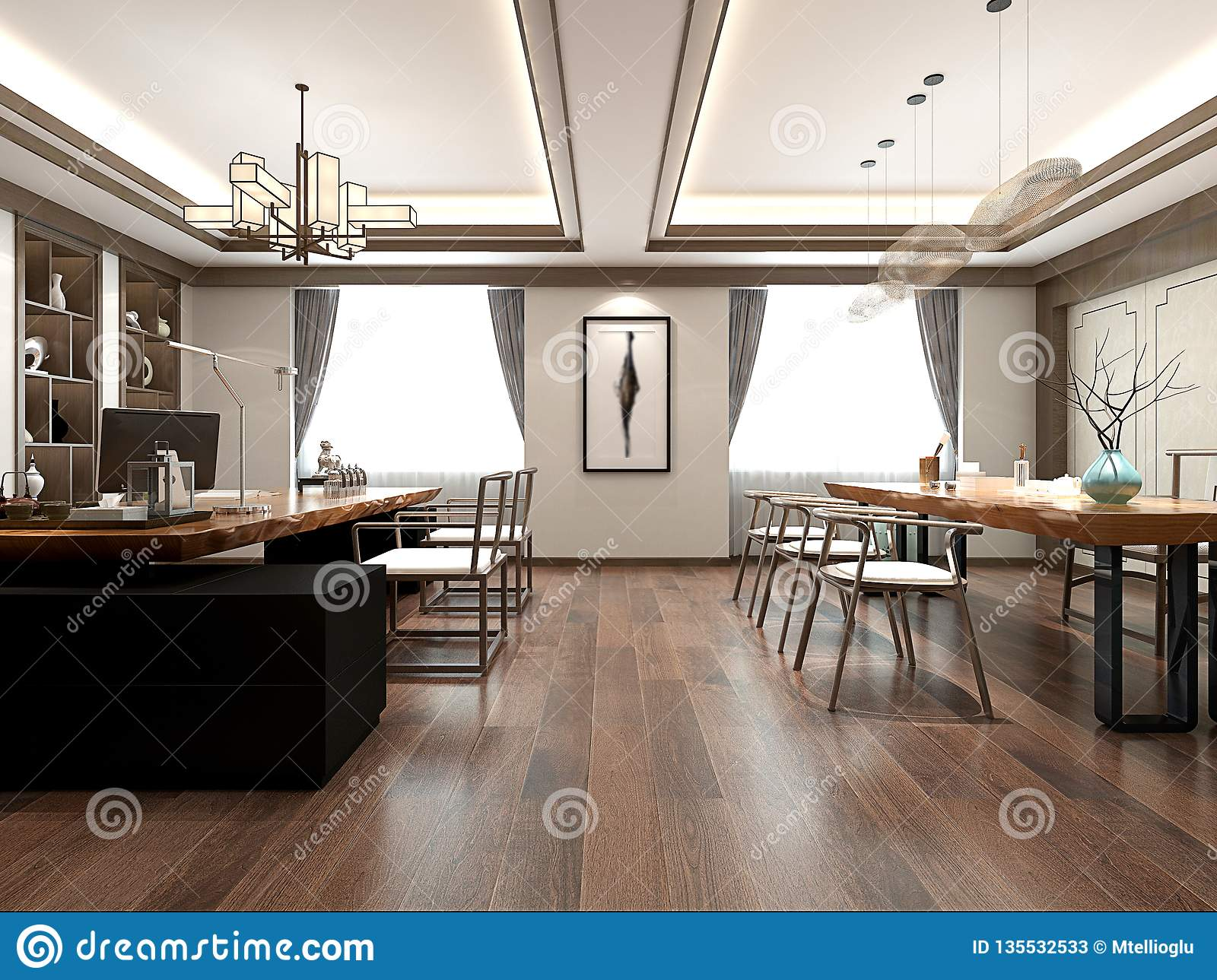 3d Render Of Home Interior Stock Illustration Illustration Of Lamp