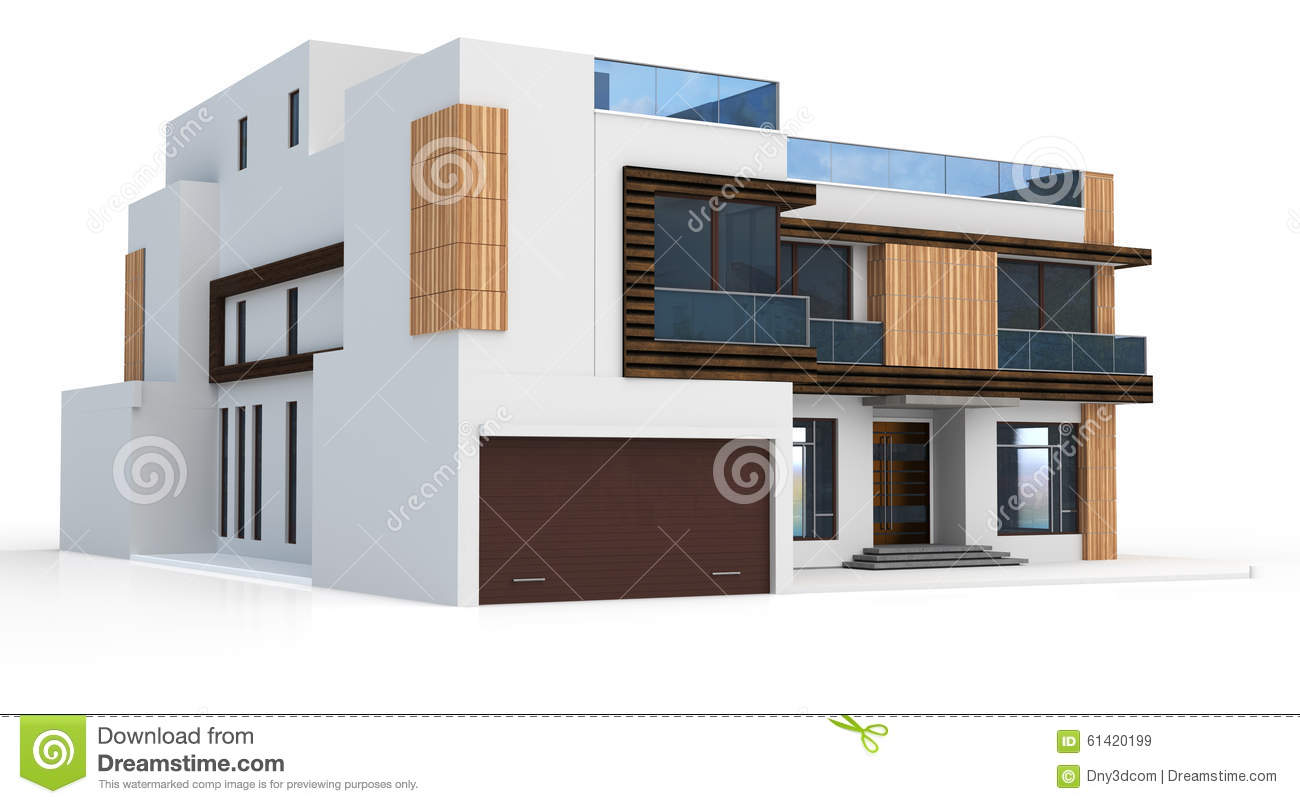 3d Render Of Modern House Stock Illustration Image 61420199