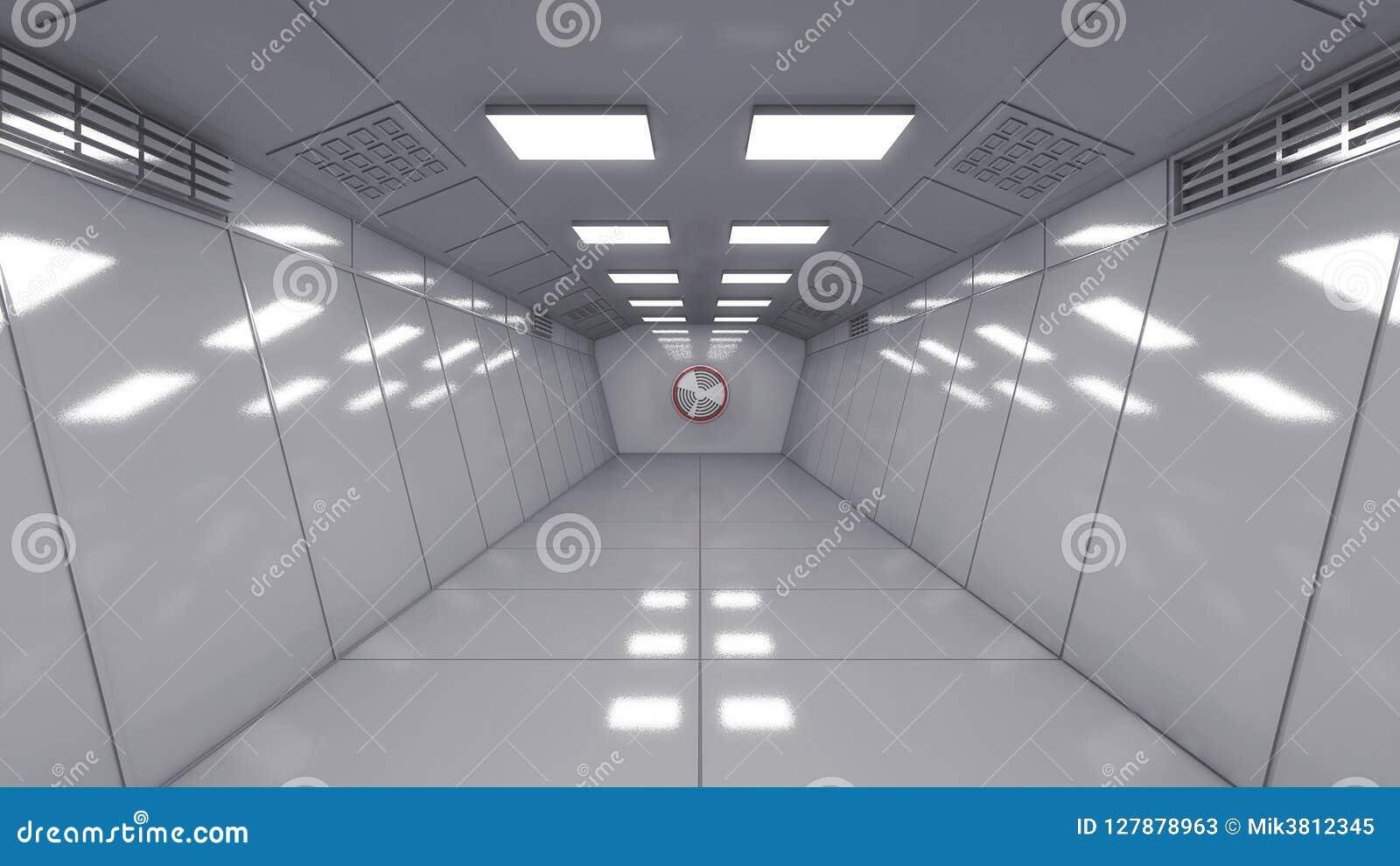 Modern interior scifi architecture