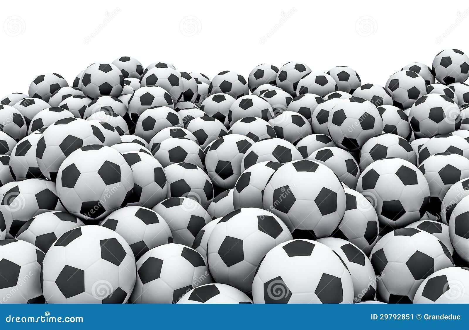 Soccer balls pile stock illustration. Illustration of ...