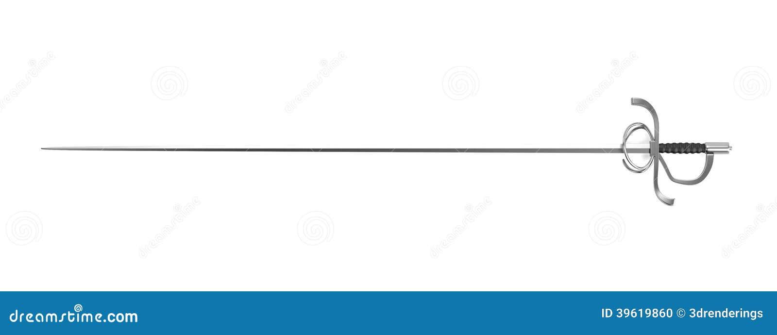 3d Render Of Rapier Stock Illustration - Image: 39619860
