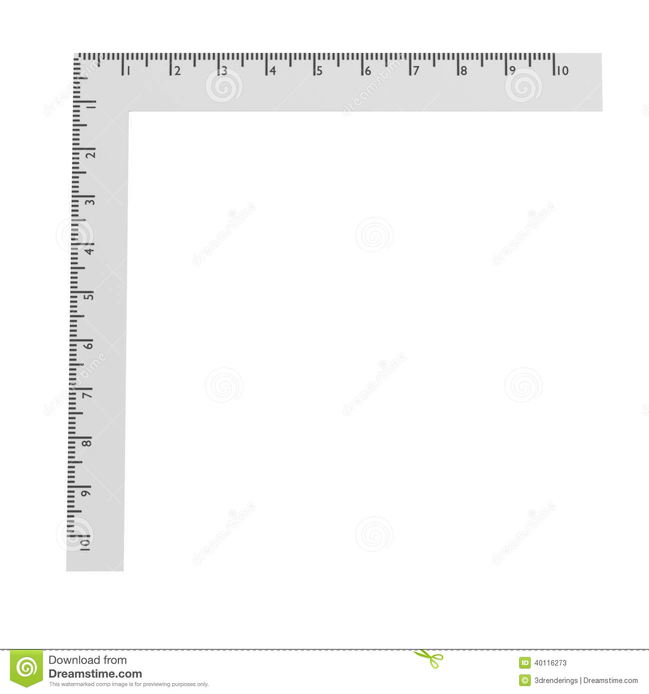 3d Render Of Stationery Tool - Ruler Stock Illustration