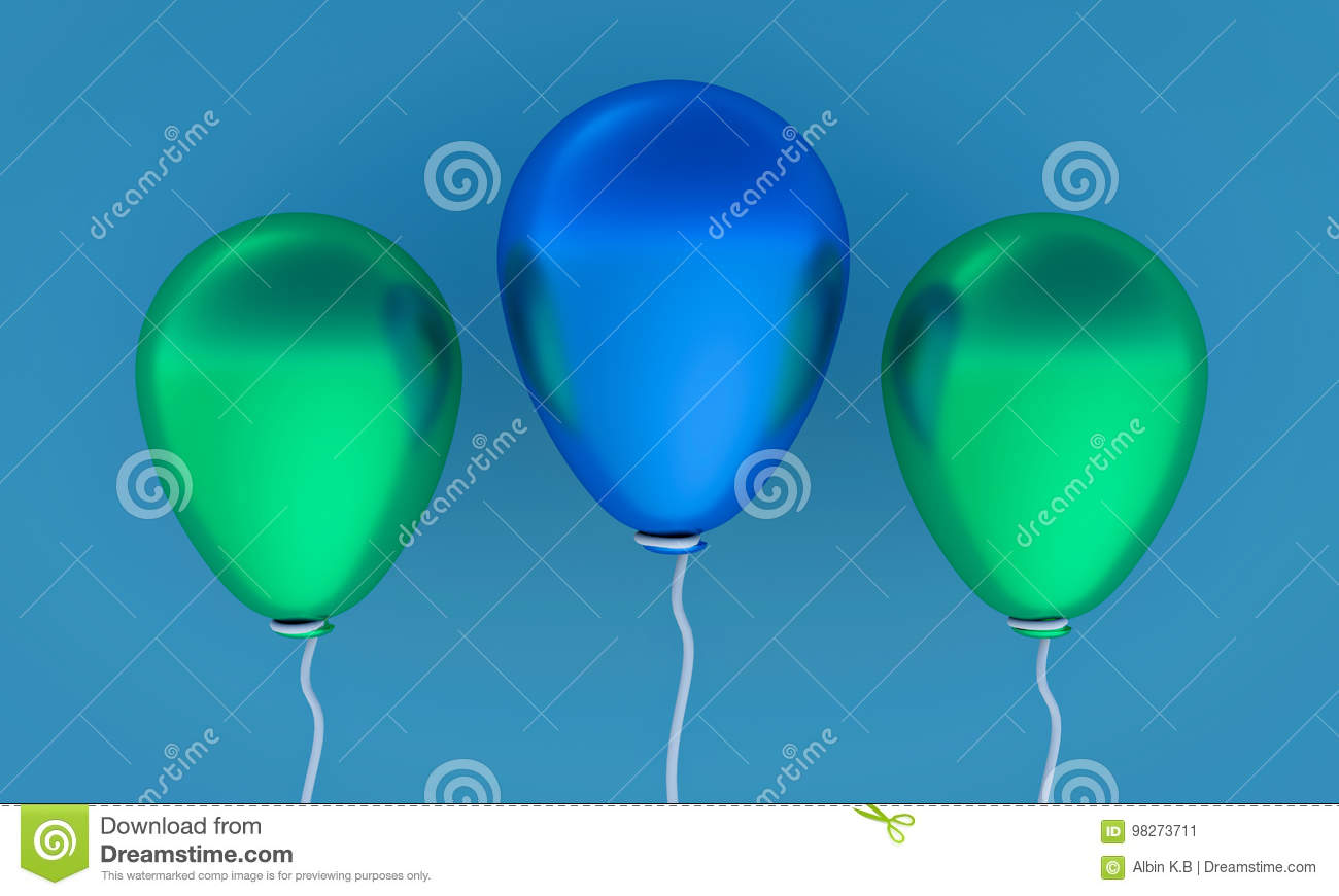 3d rendered balloons