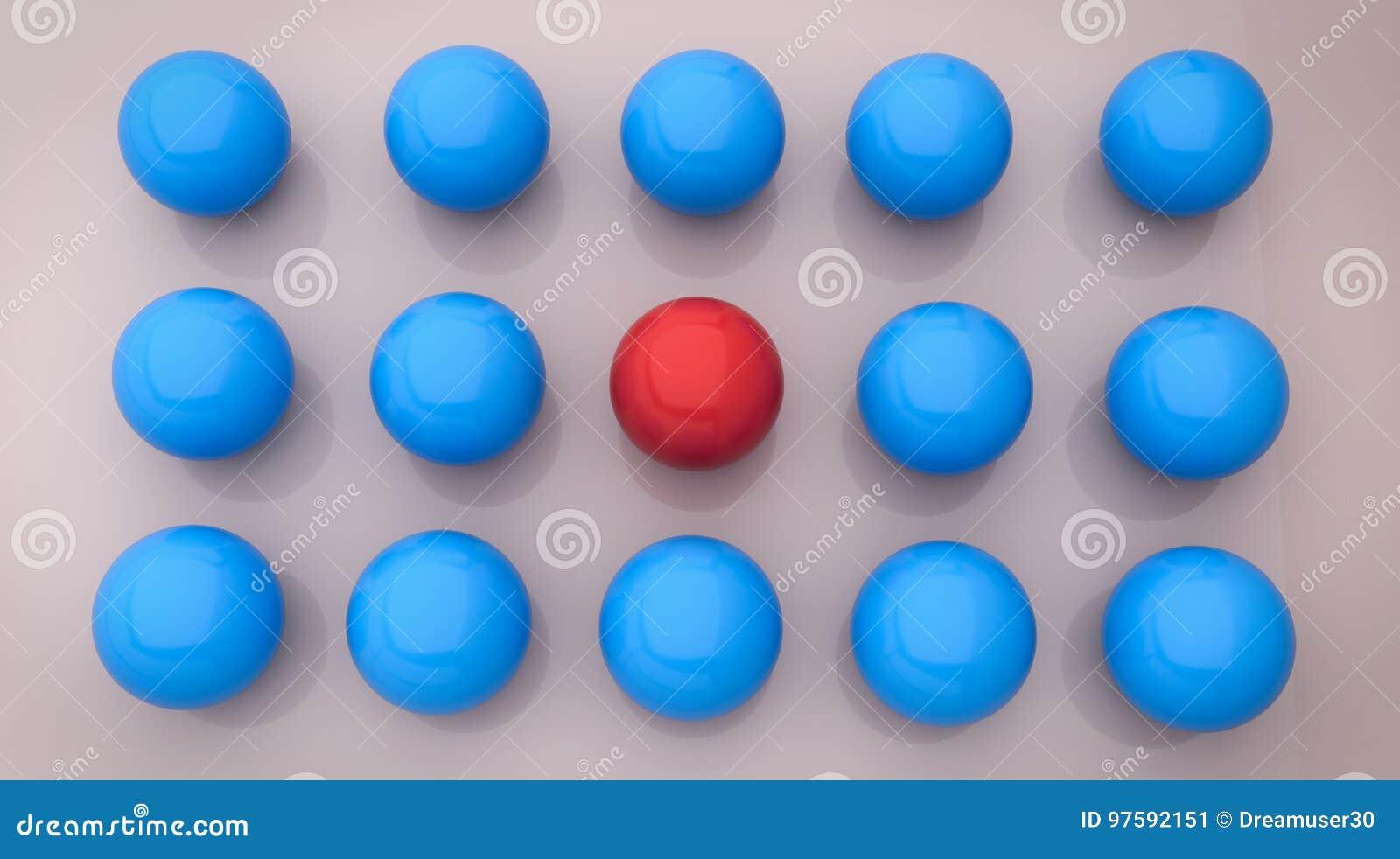 3d rendered balls