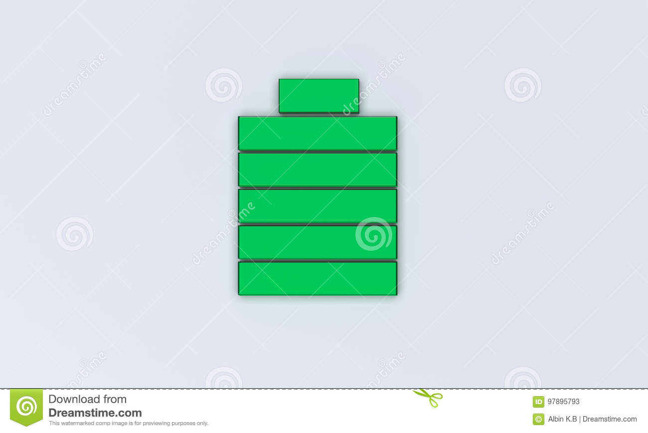 3d rendered battery