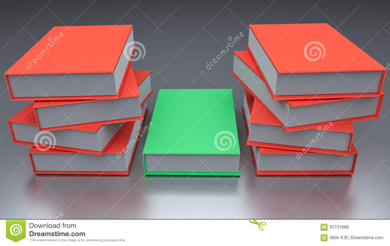 3d rendered books