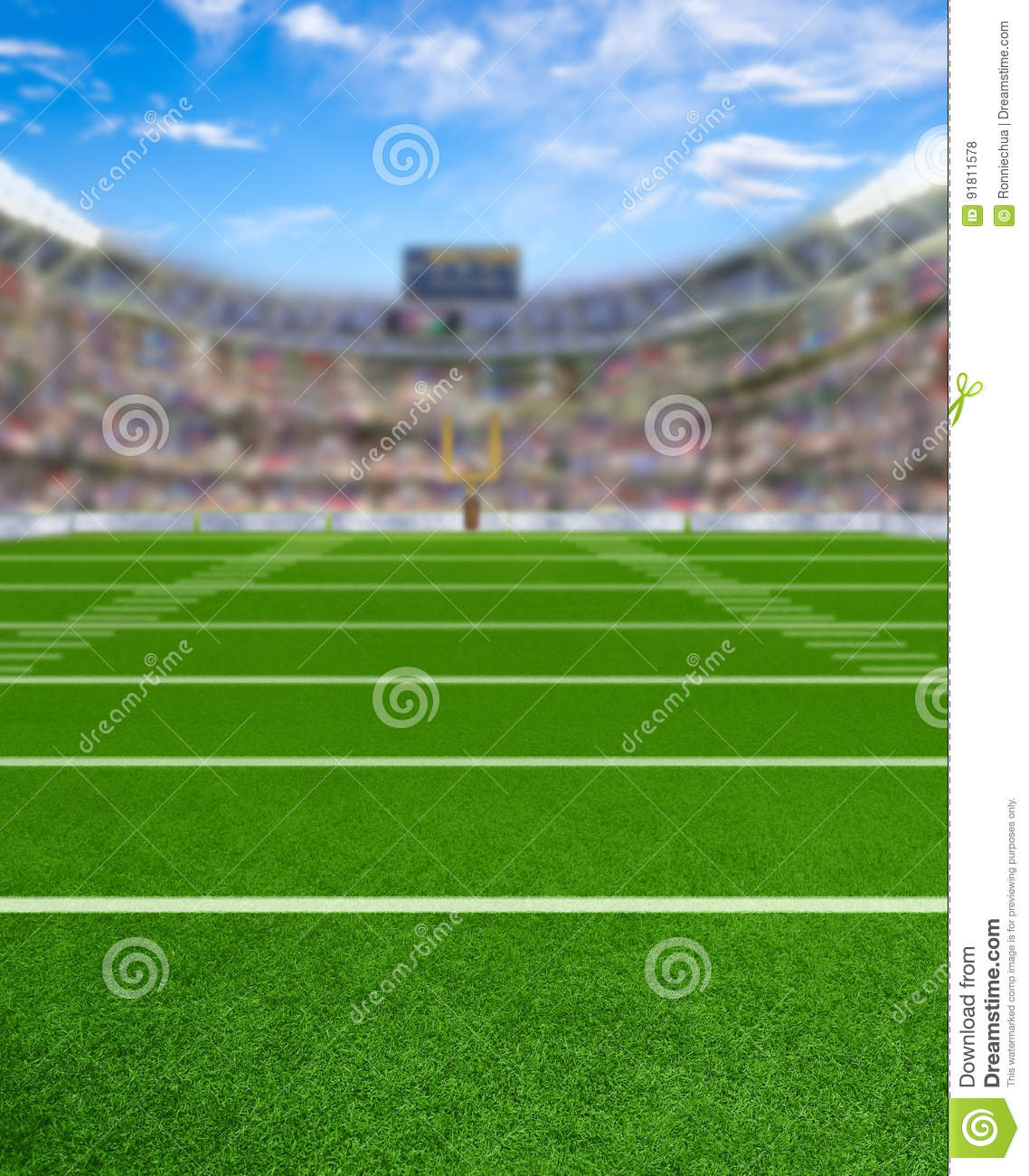 3D Rendered Football Stadium With Copy Space