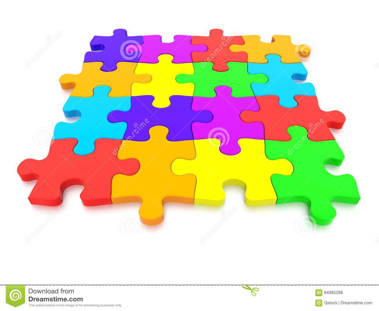 3D Rendered Graphic Of A Jigsaw Puzzle Stock Illustration