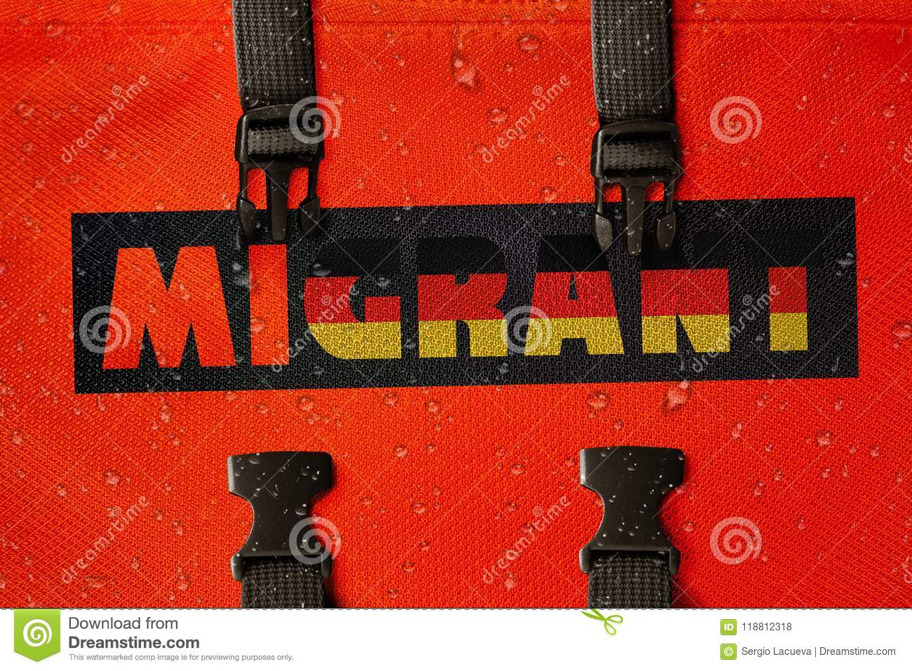 3D rendered idea for migrants crossing the Mediterranean and gaining access into Germany.