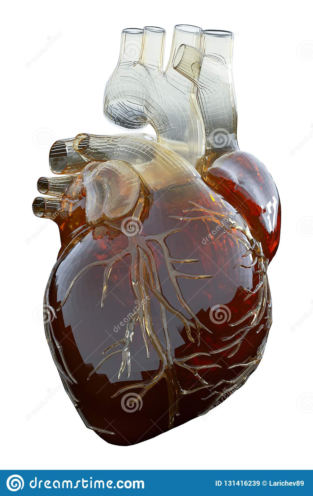 3d rendered medically accurate illustration of an artificial heart