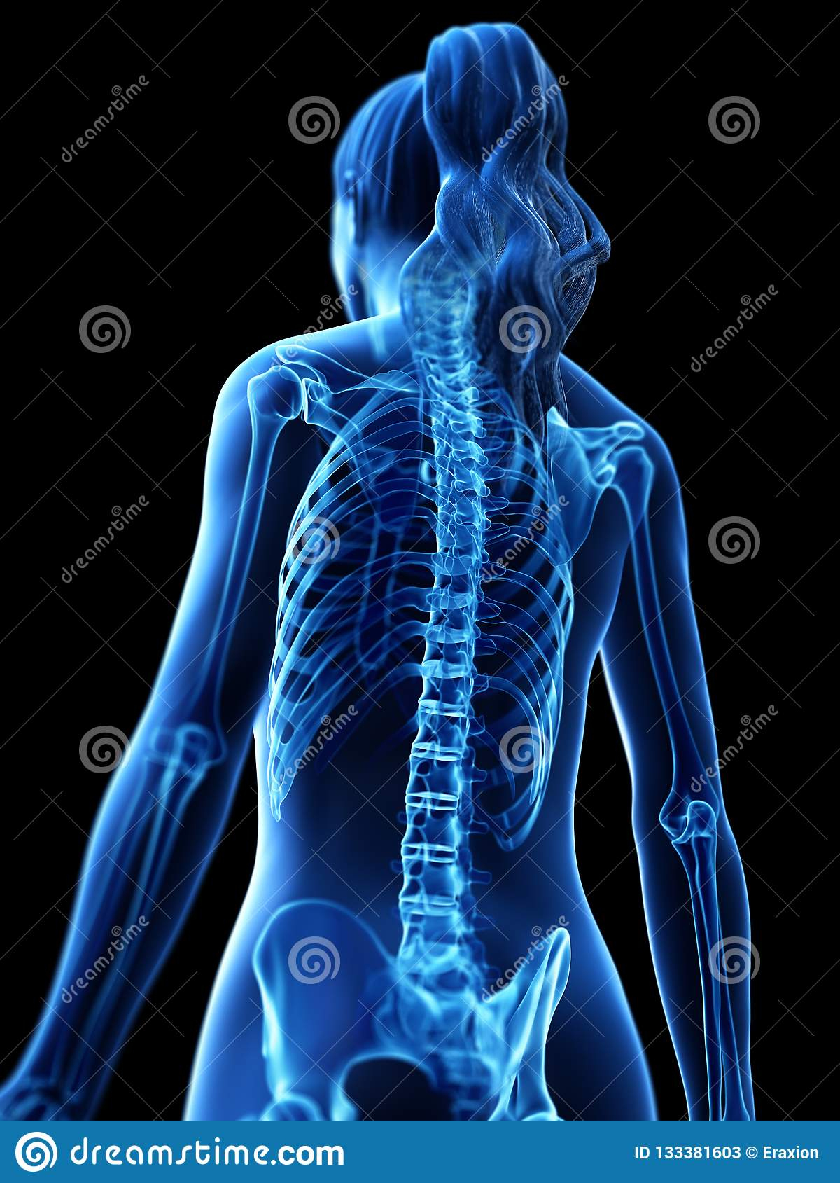 A runners painful back stock illustration. Illustration of