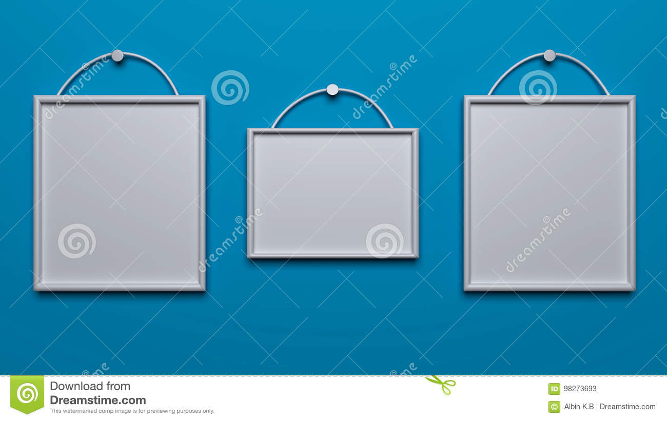 3d rendered photo frames